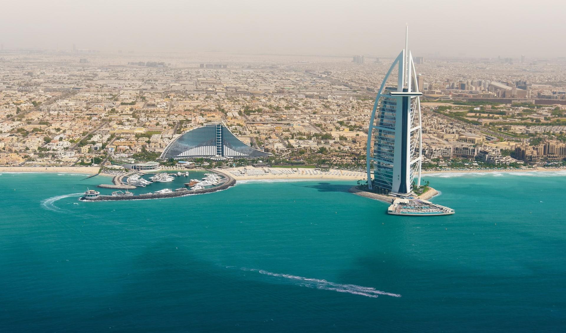 Strand skyline, Dubai