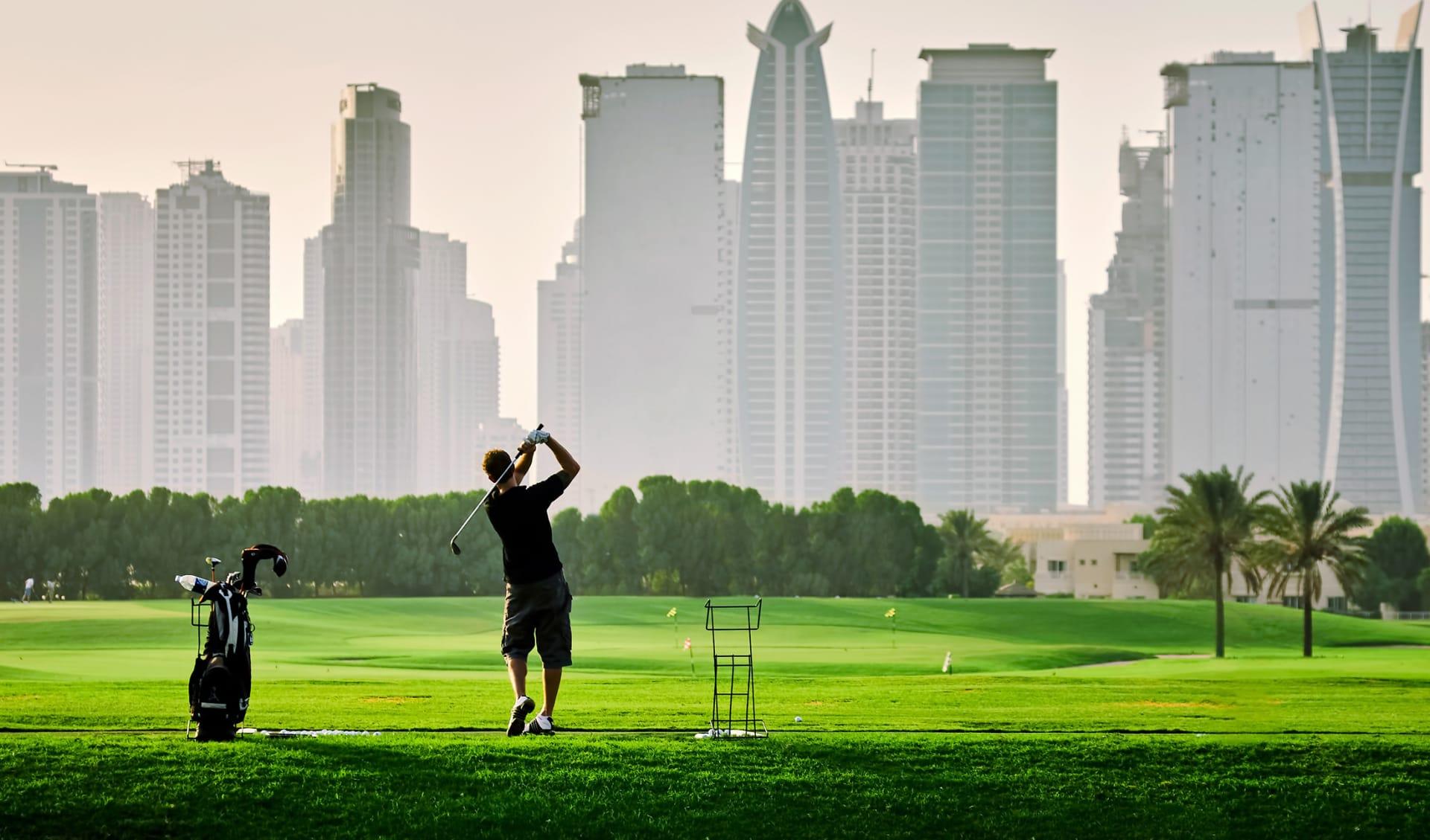 Golfspieler, Dubai