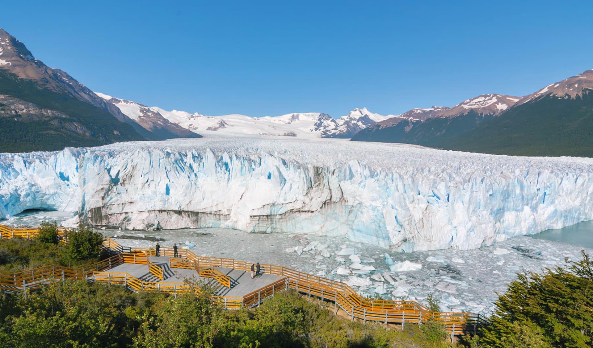 Rio Gallegos – El Calafate: Argentinien - Perito Moreno - Blick an Gletscher