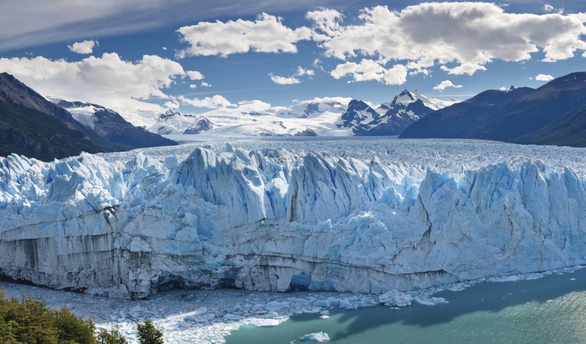 El Calafate: Argentinien - Perito Moreno - Sicht an Gletscherwand