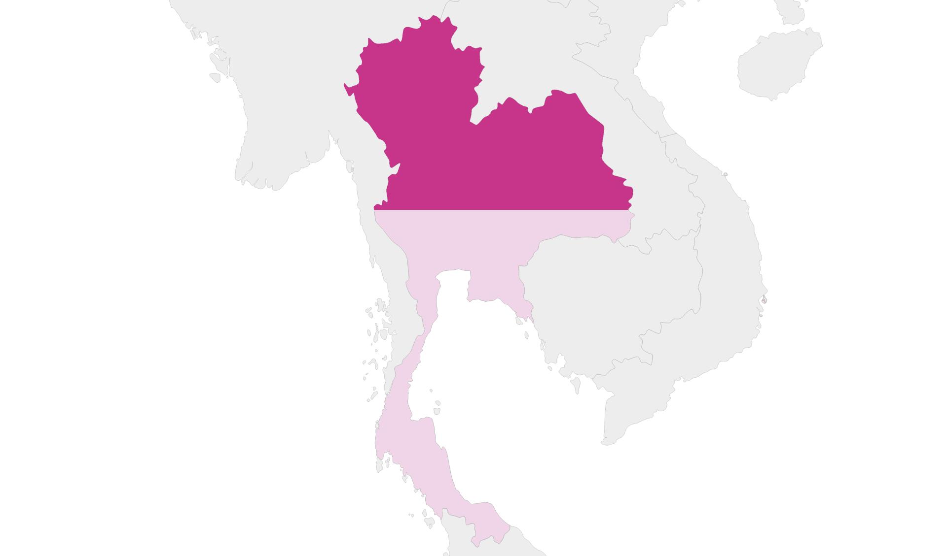 karte Thailand Region Nord-Thailand