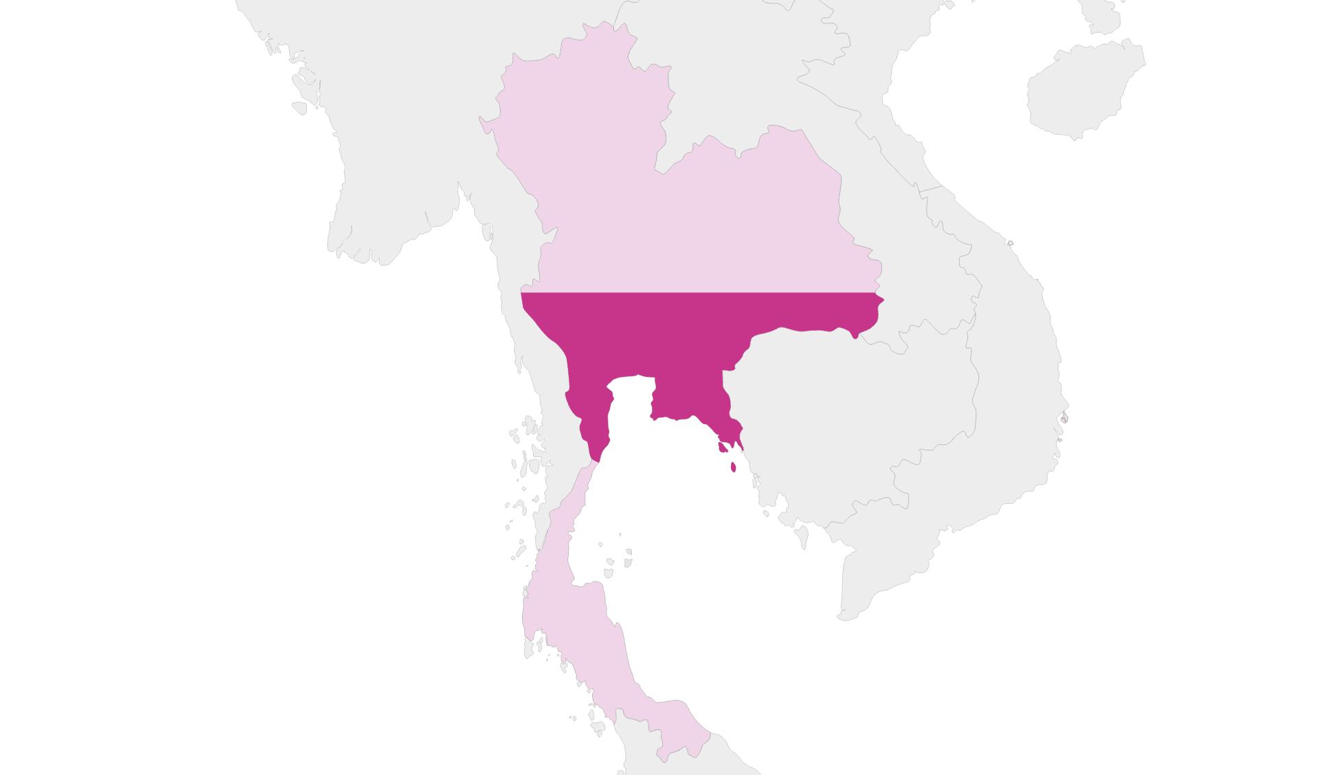 Karte Thailand Region Zentral-Thailand