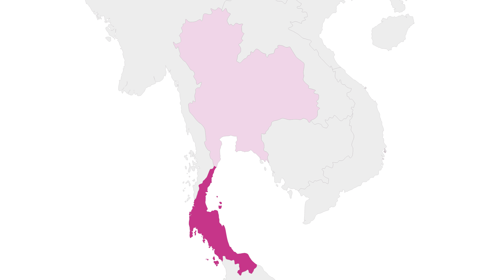 Karte Thailand Region Süd-Thailand