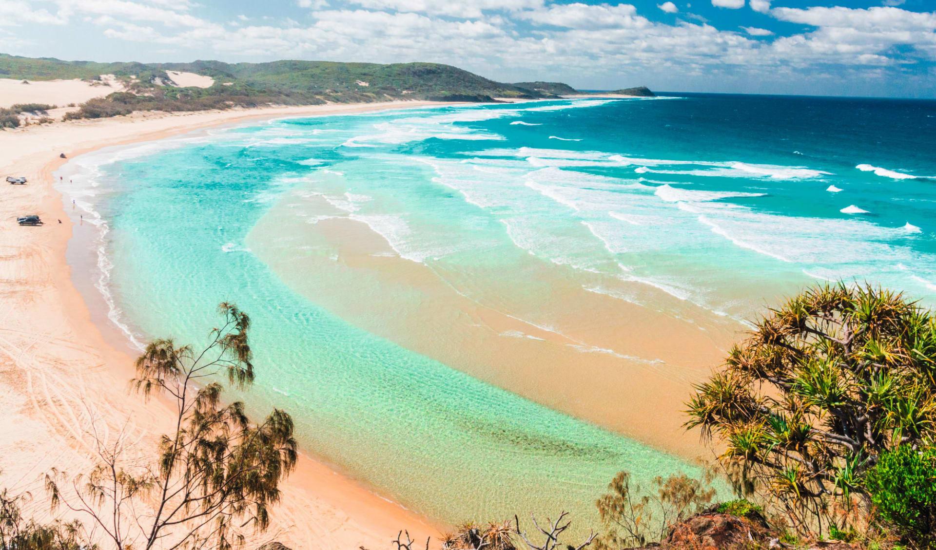 Faszination Australien (AAT Kings) ab Melbourne: Australia - Queensland - Fraser Island - Blick auf Strand von Fraser Island