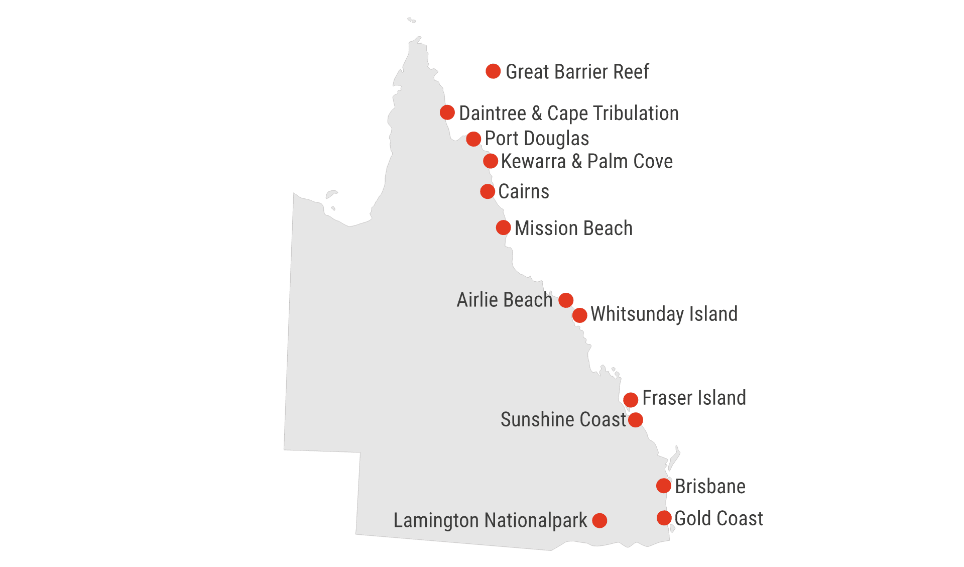 Karte Queensland