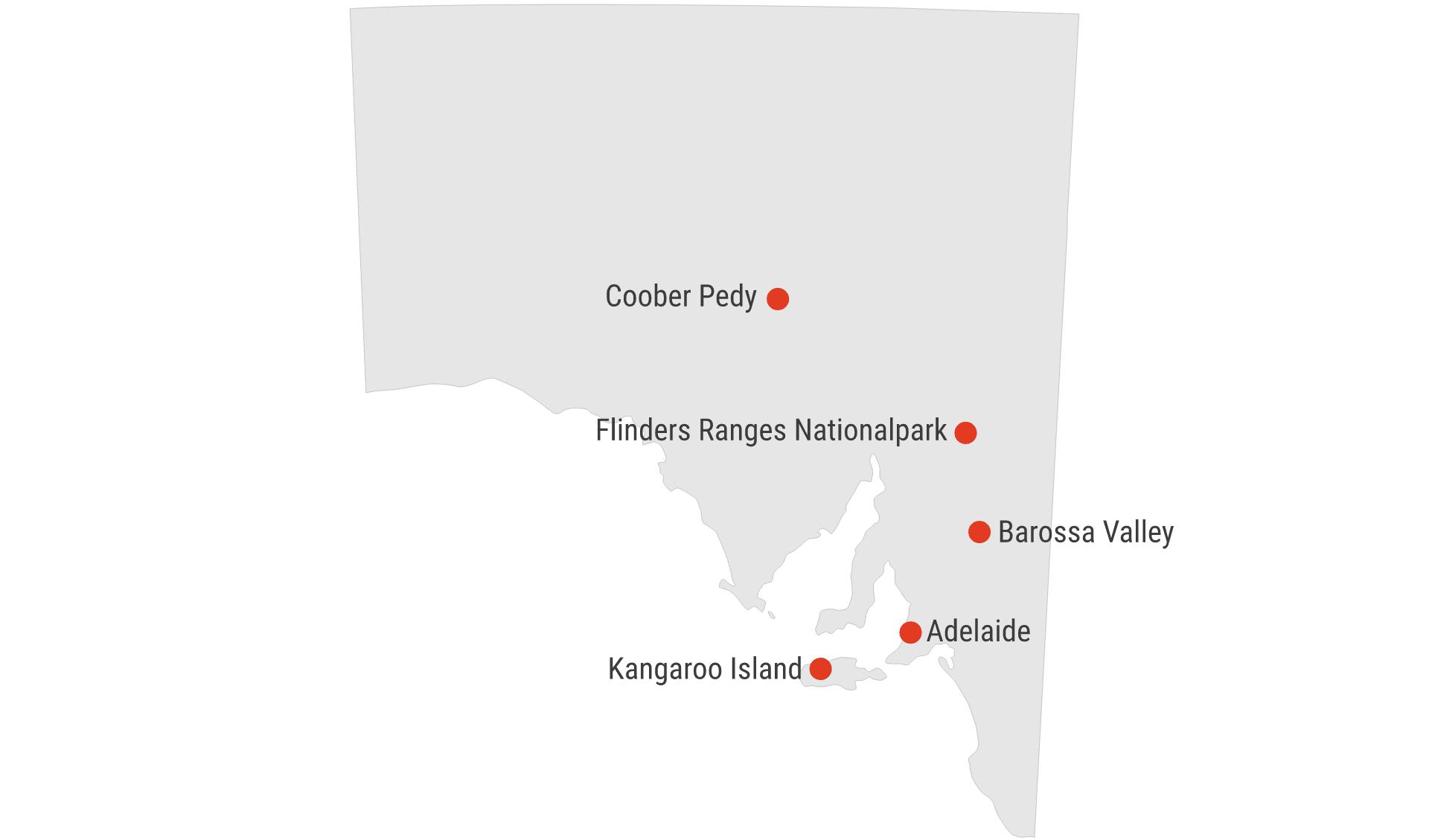 Karte South Australia