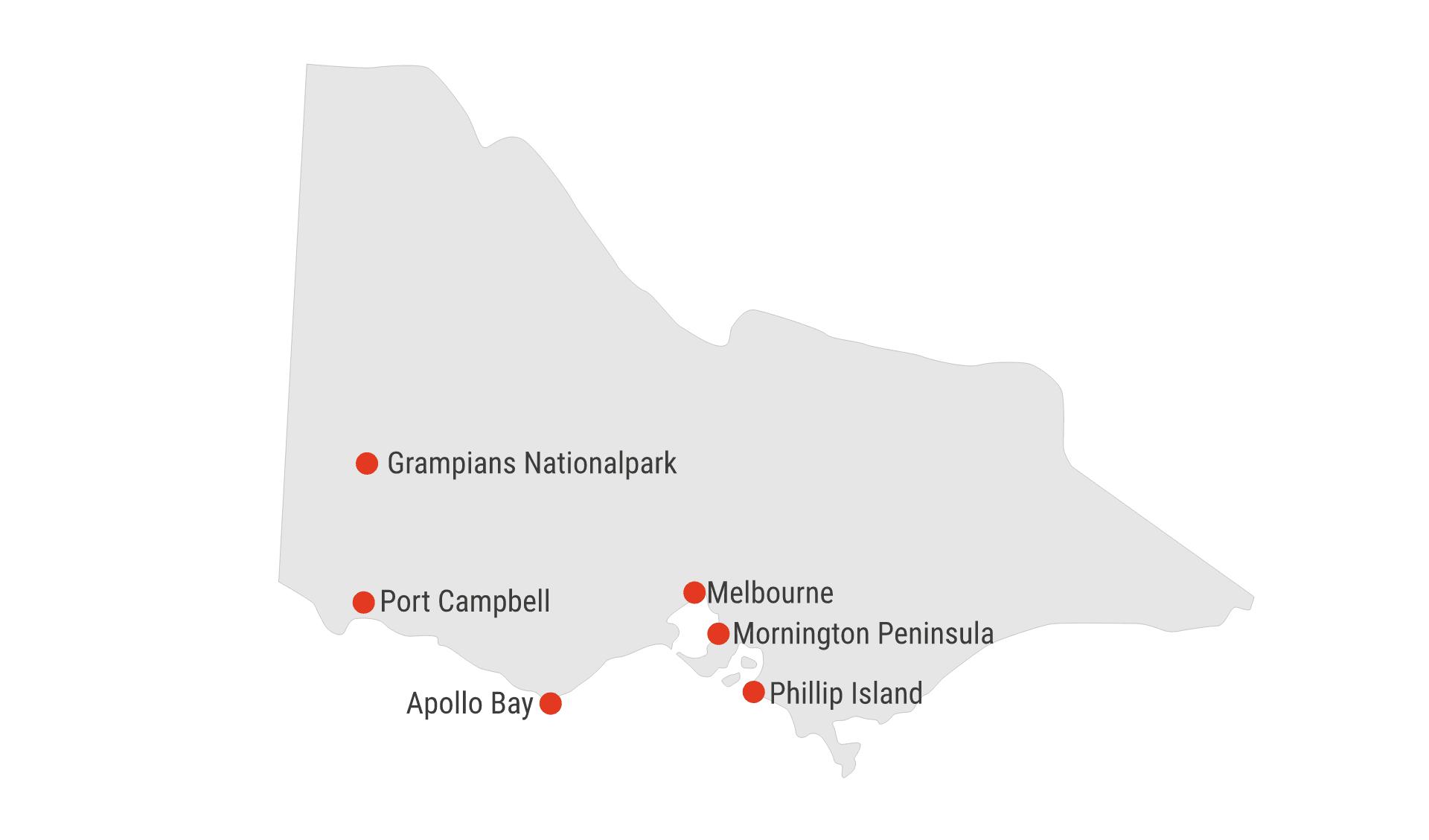Karte Victoria