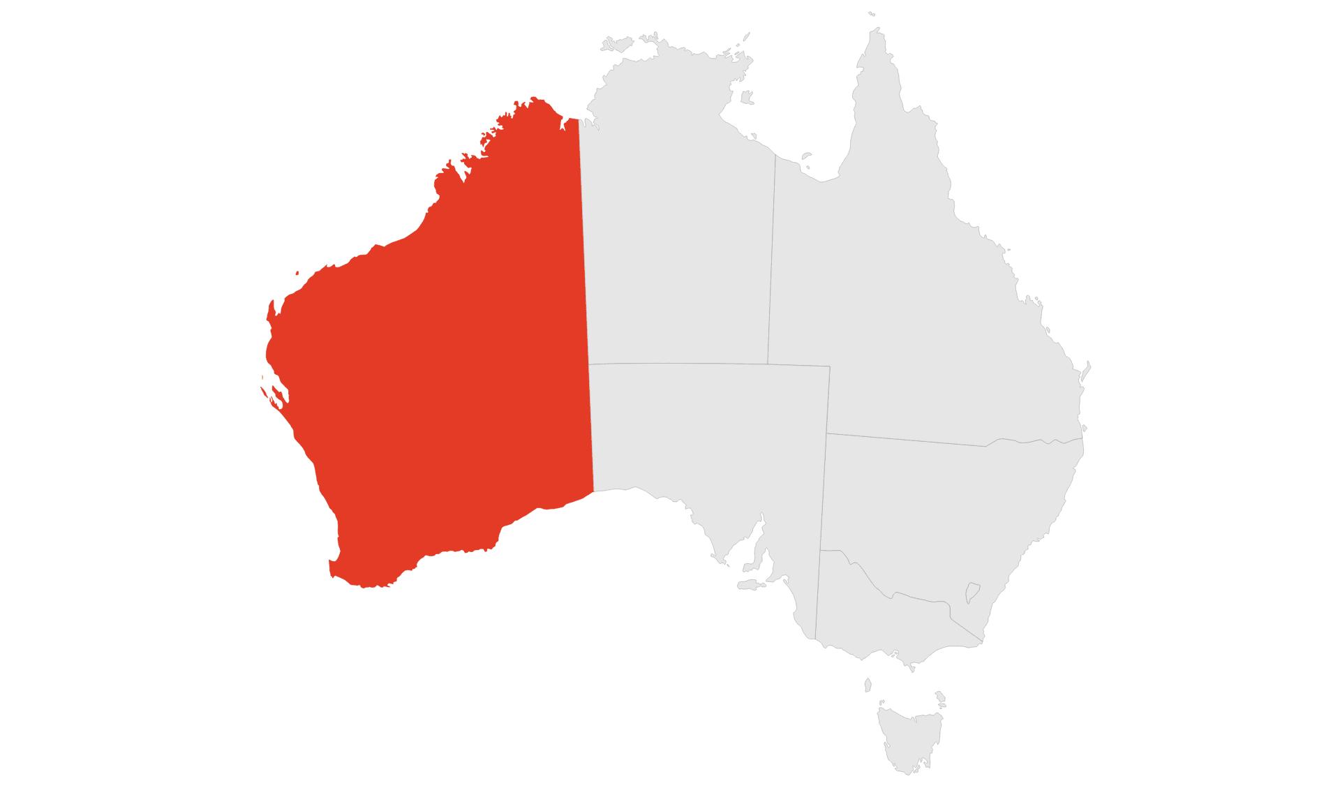Karte Western Australia