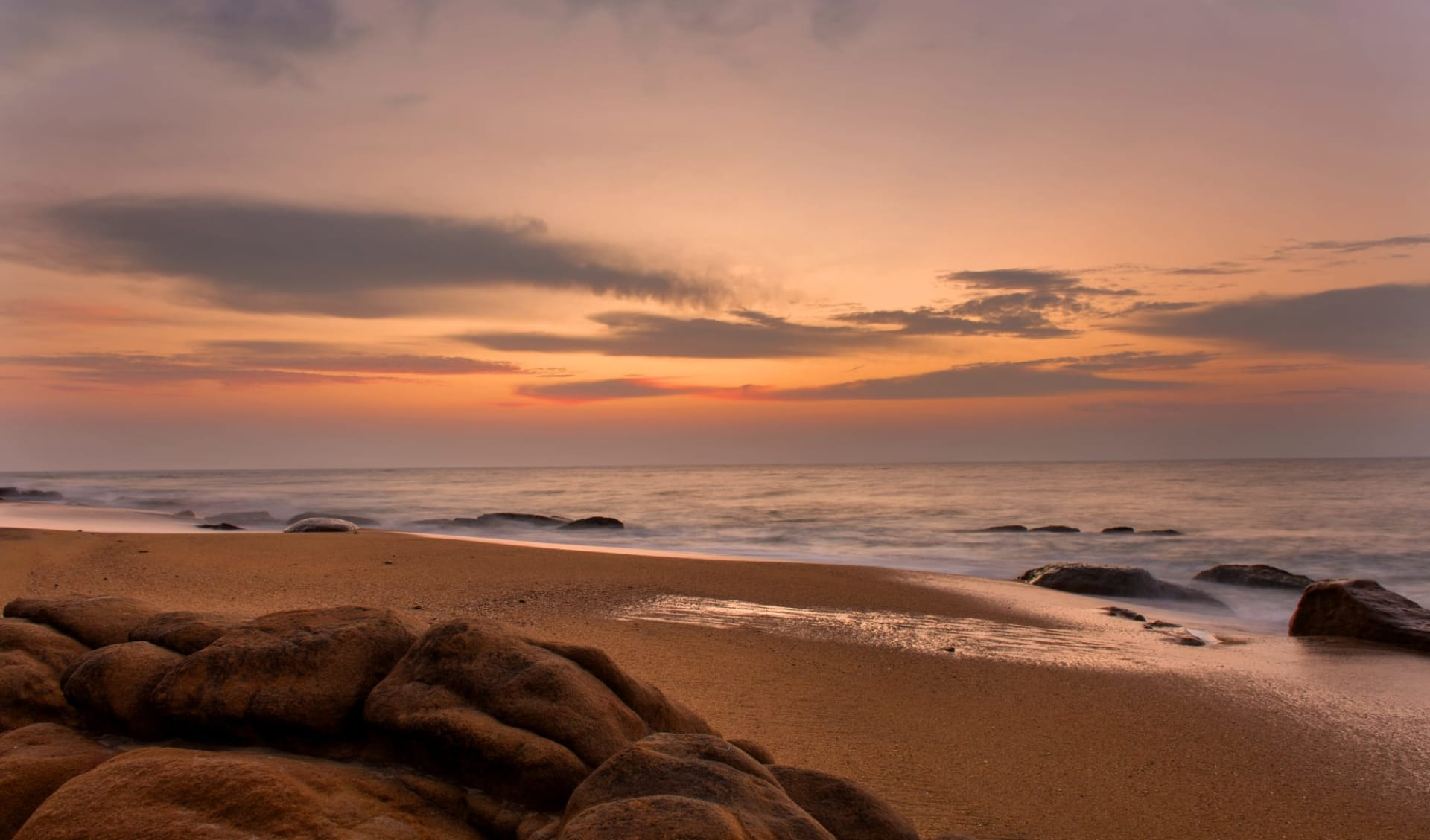Yala Nationalpark Safari - Chena Huts - 2 Tage ab Colombo: beach: Beach
