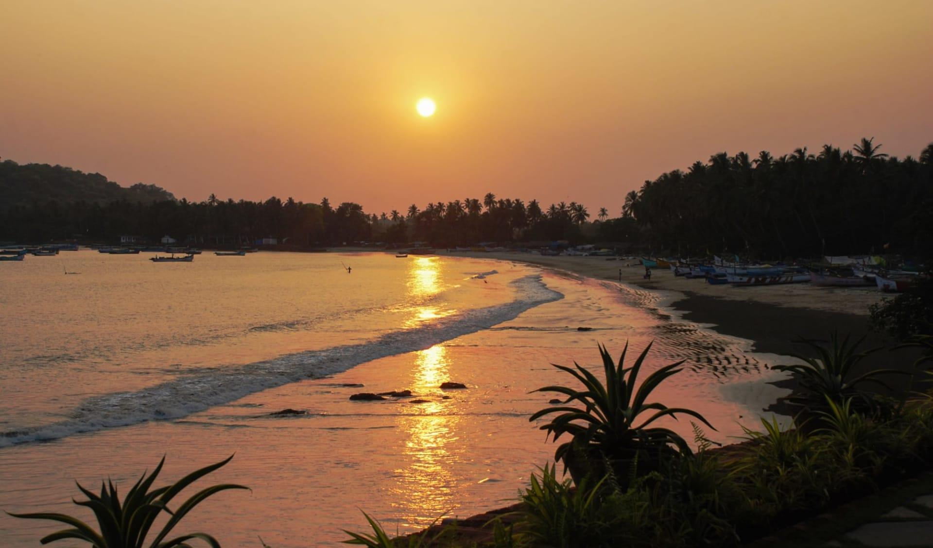 Ahilya by the Sea in Goa: Beach at Sunset