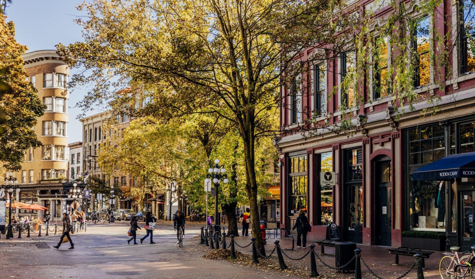 Höhepunkte Westkanadas ab Vancouver: Stadtviertel Gastown