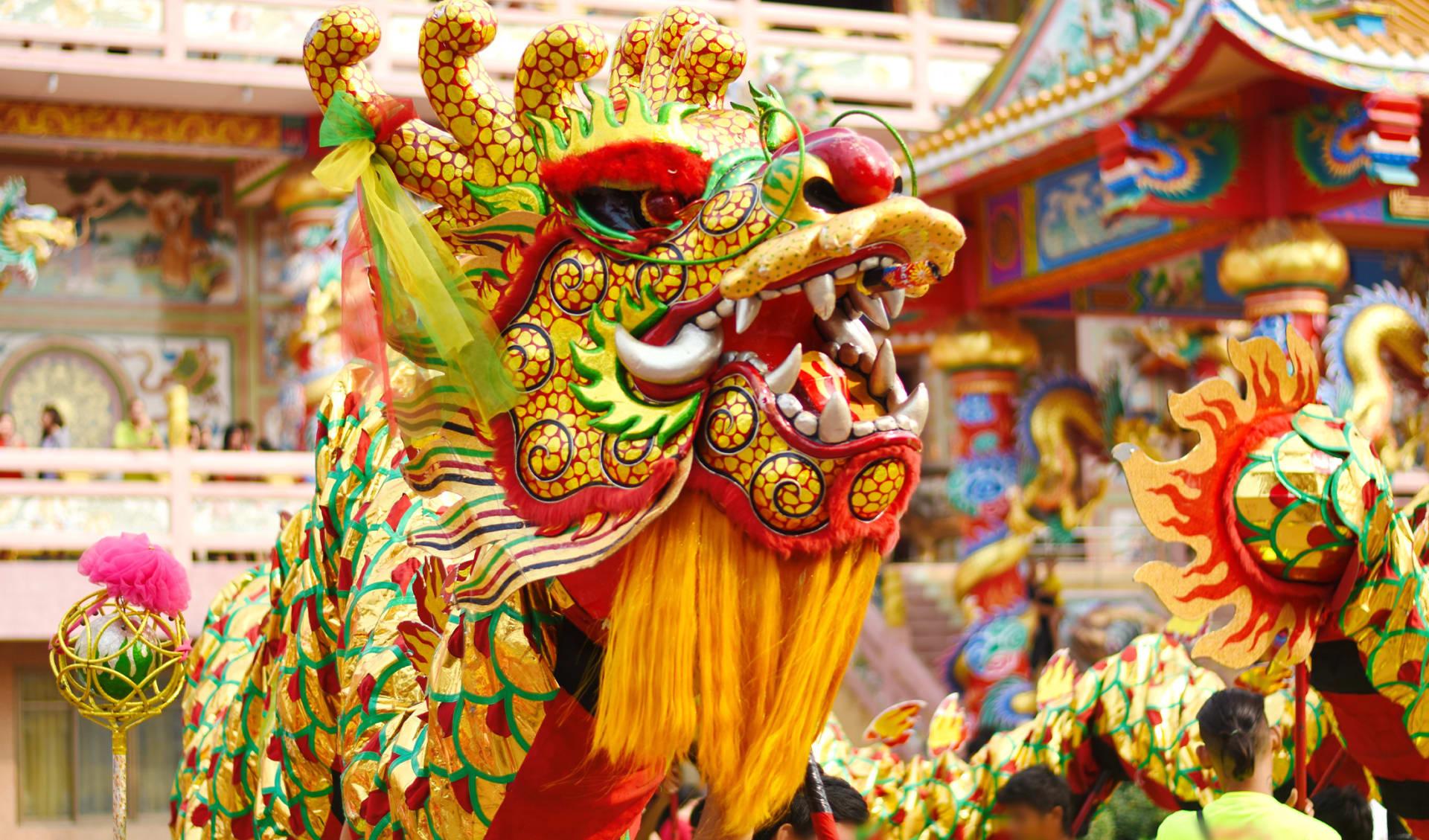 Chinesischer Drachentanz, China