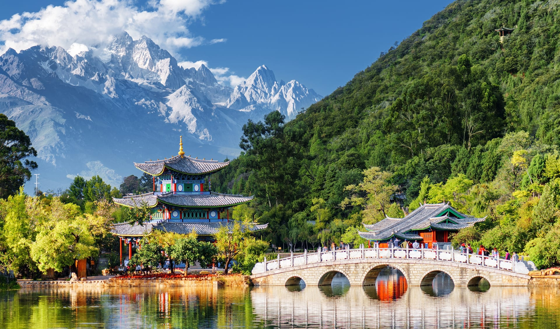 Black Dragon Pool, Lijiang, Provinz Yunnan, China