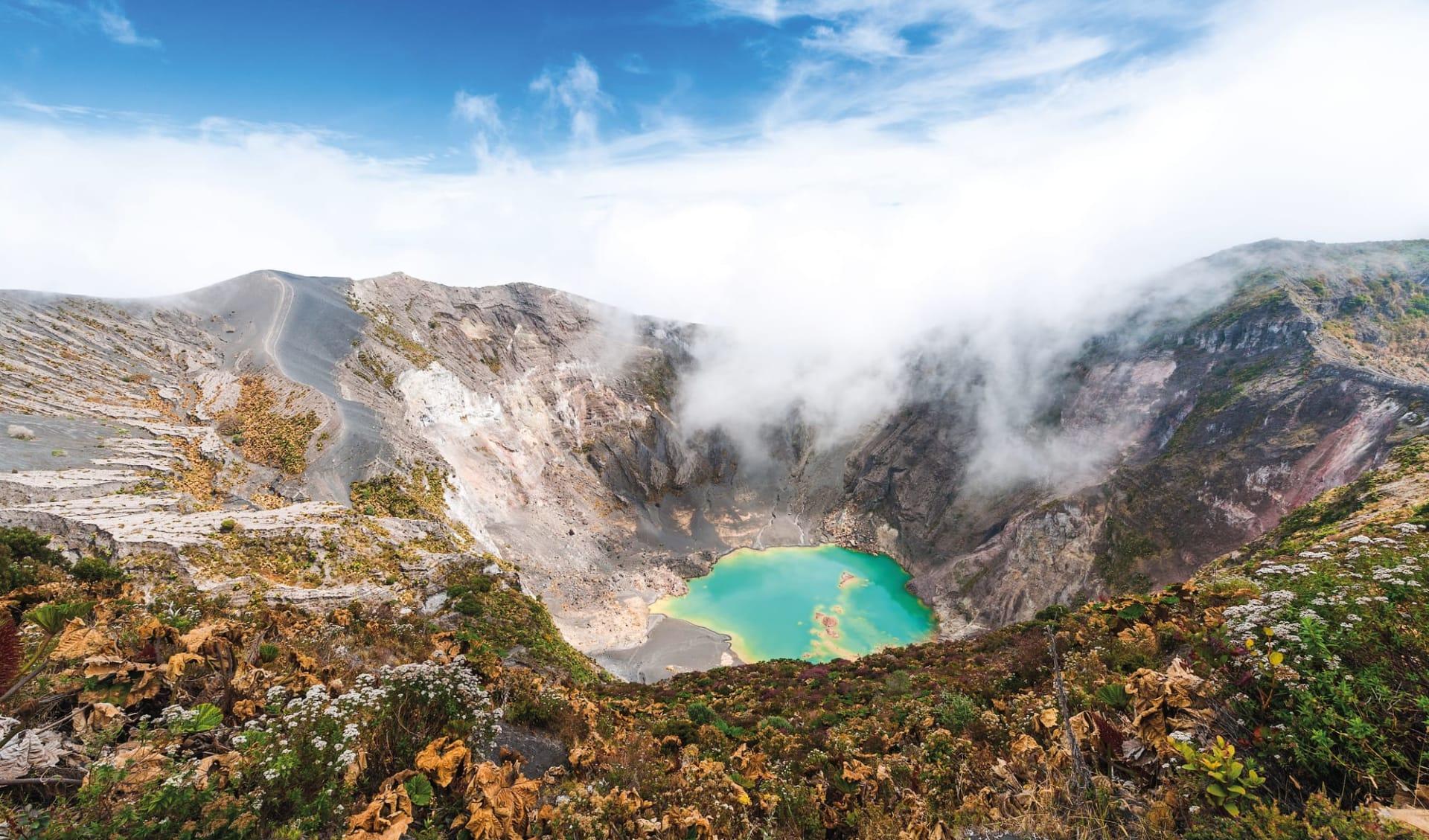 Leserreise Luzerner Zeitung Costa Rica ab San José City: Costa Rica - Irazú Vulkan - Blick auf Krater