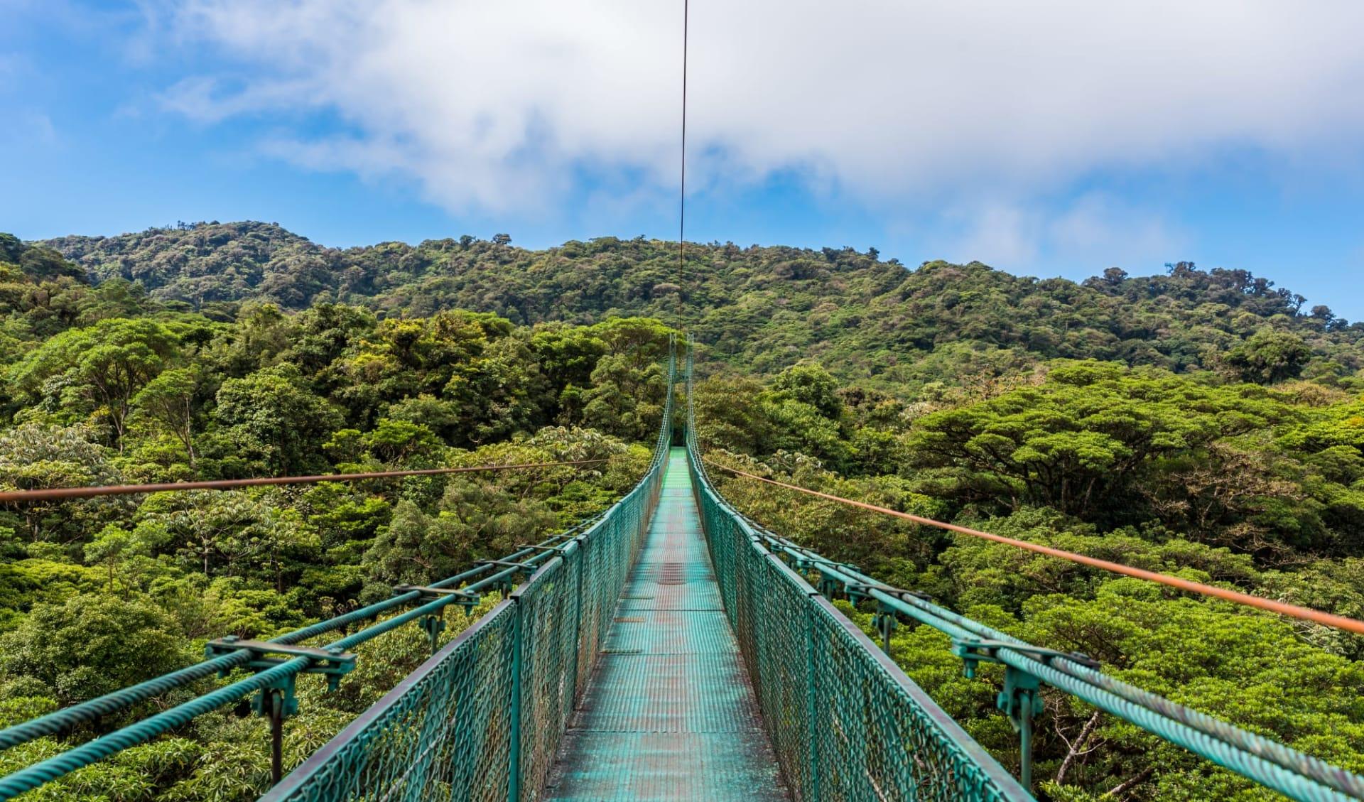 Mietwagenreise Zwischen zwei Ozeanen ab San José City: Costa Rica - Monteverde - hängende Brücke