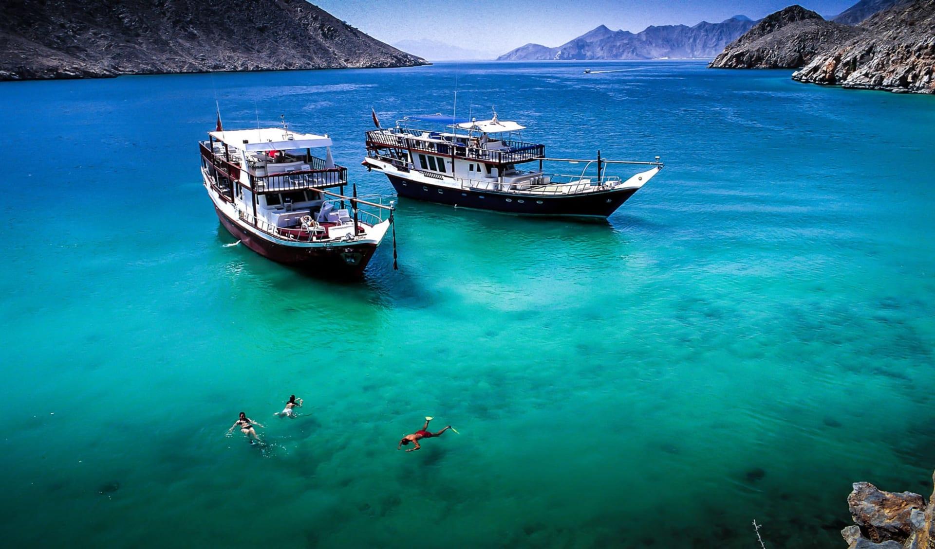 Omanische Exklave Musandam ab Muscat: Dhow Cruise Musandam - Oman