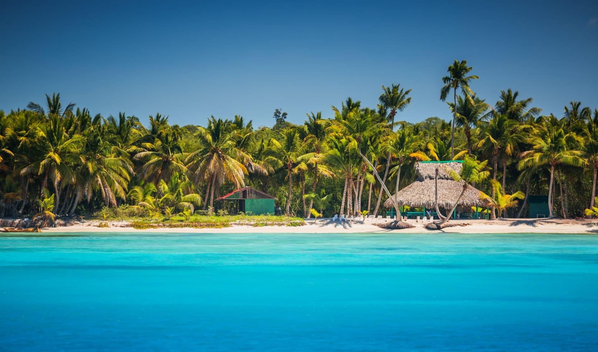 Unbekannter Osten ab Punta Cana: Dominikanische Republik - Punta Cana - türkises Wasser und Palmen