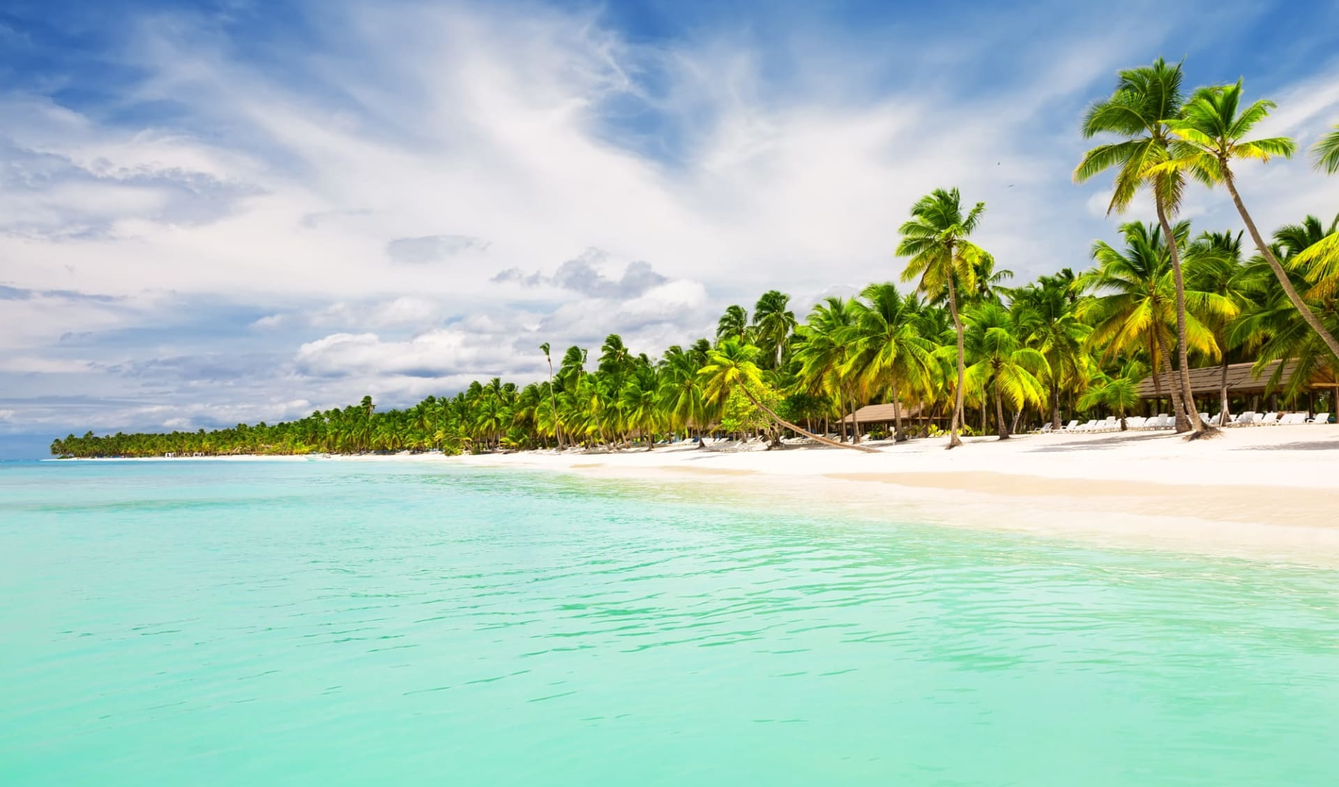 Unbekannter Osten ab Punta Cana: Dominikanische Republik - Punta Cana - weisser Sandstrand mit türkisem Wasser