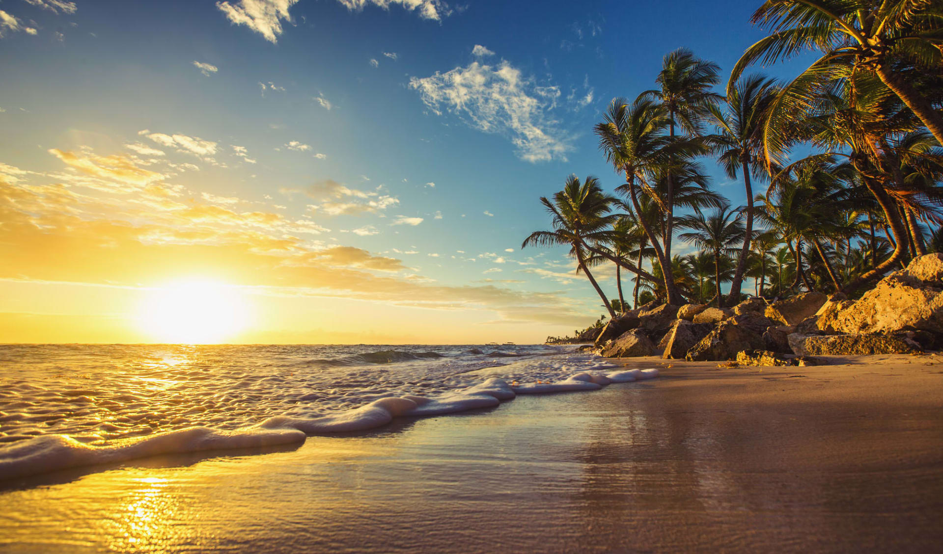 Aktivprogramm Samana ab Las Terrenas: Dominikanische Republik - Strand - Sonnenuntergang