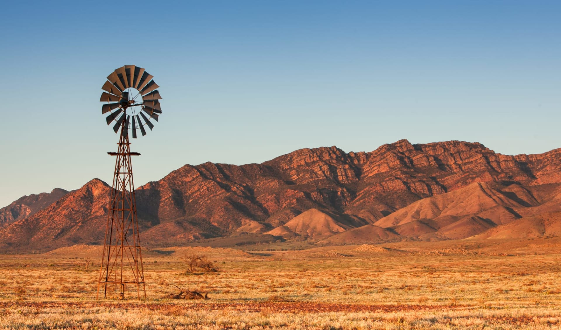 Ocean to Outback Odyssey ab Port Lincoln: Einzelne Windmühle in den Flinders Ranges