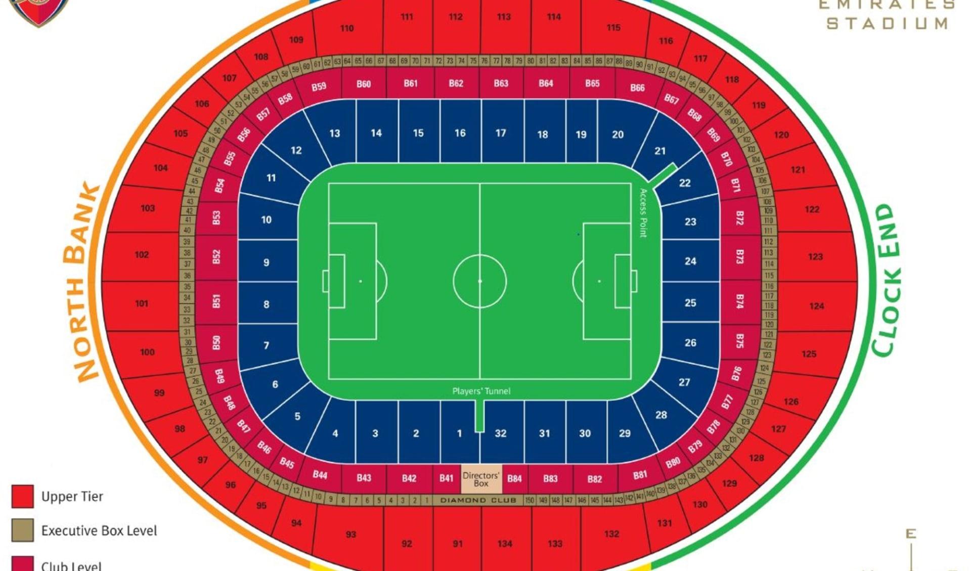 FC Arsenal ab London: Emirates Stadium
