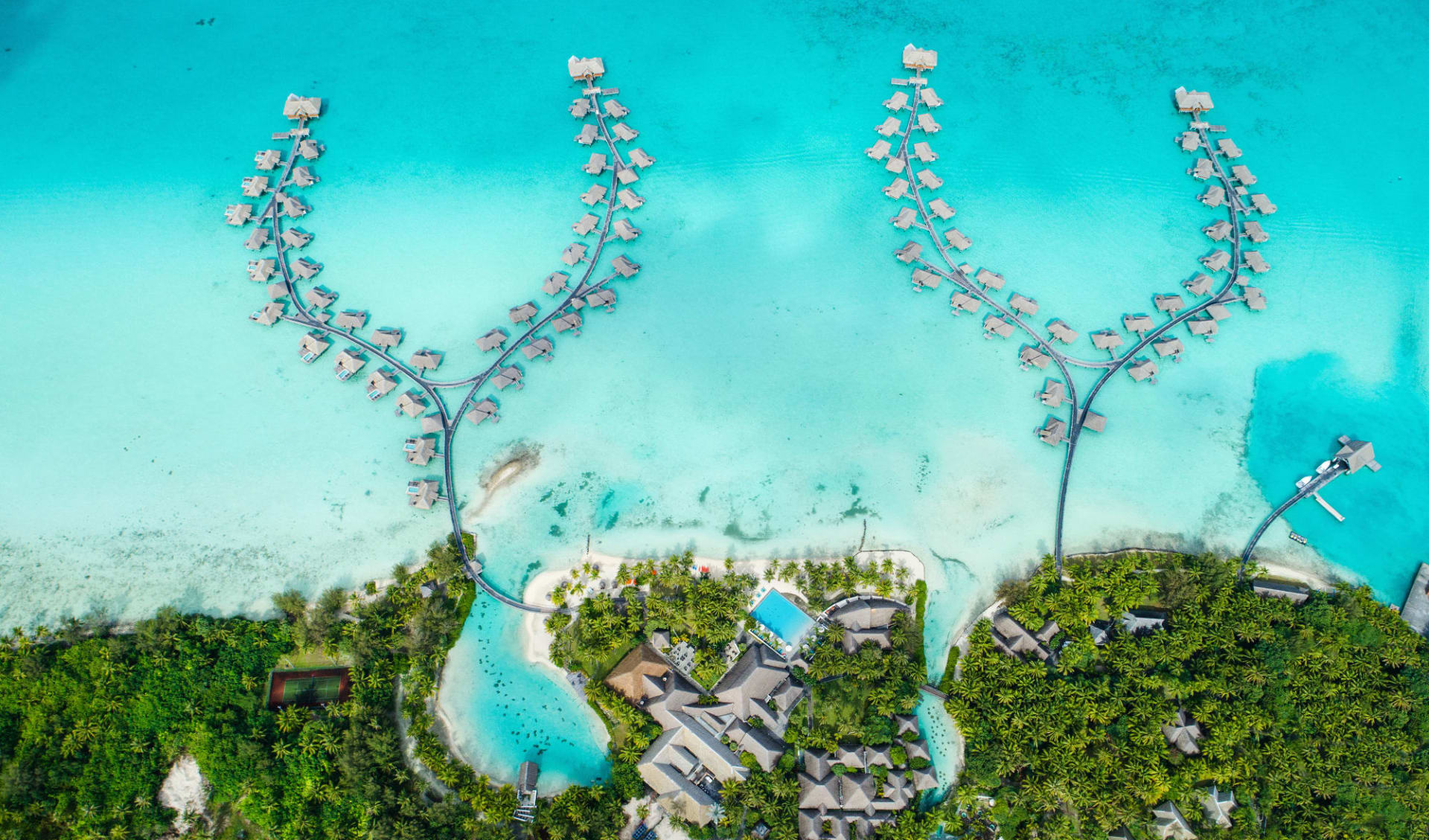 Intercontinental Bora Bora Resort & Thalasso Spa:  BOB Intercontinental Thalasso Aerial View (2)