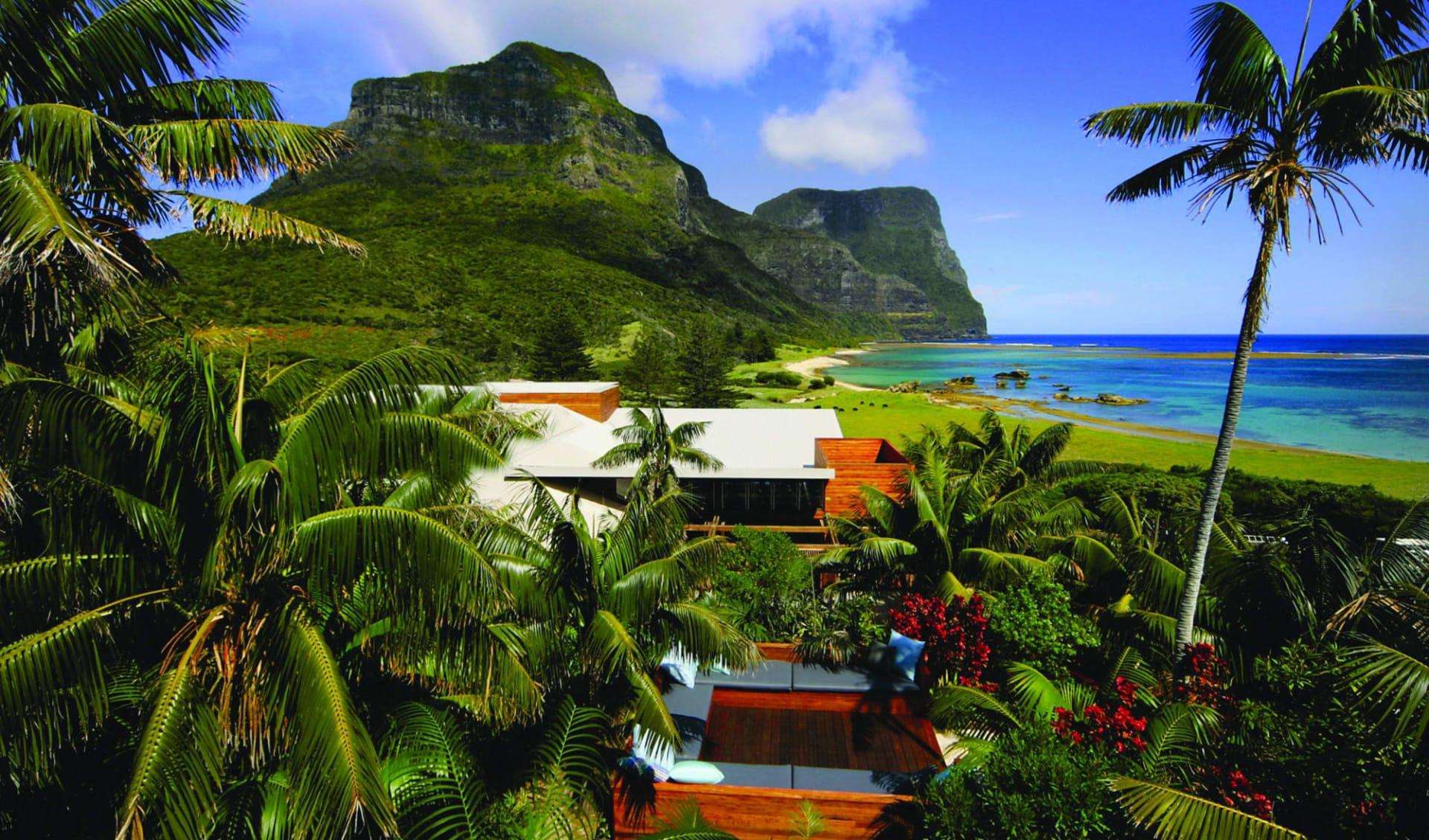 Capella Lodge in Lord Howe Island:  Capella Lodge - Aussenansicht