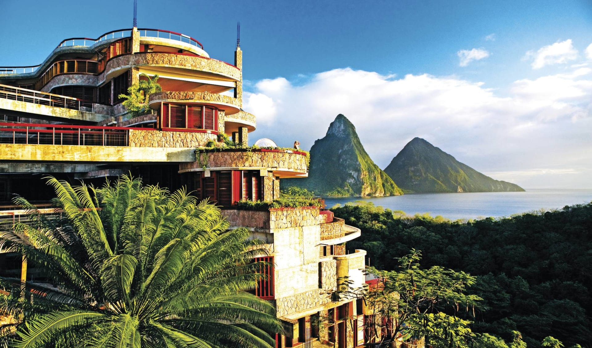 Jade Mountain Resort in Soufrière:  Exterior Jade Mountain St. Lucia - Aerial cHotel