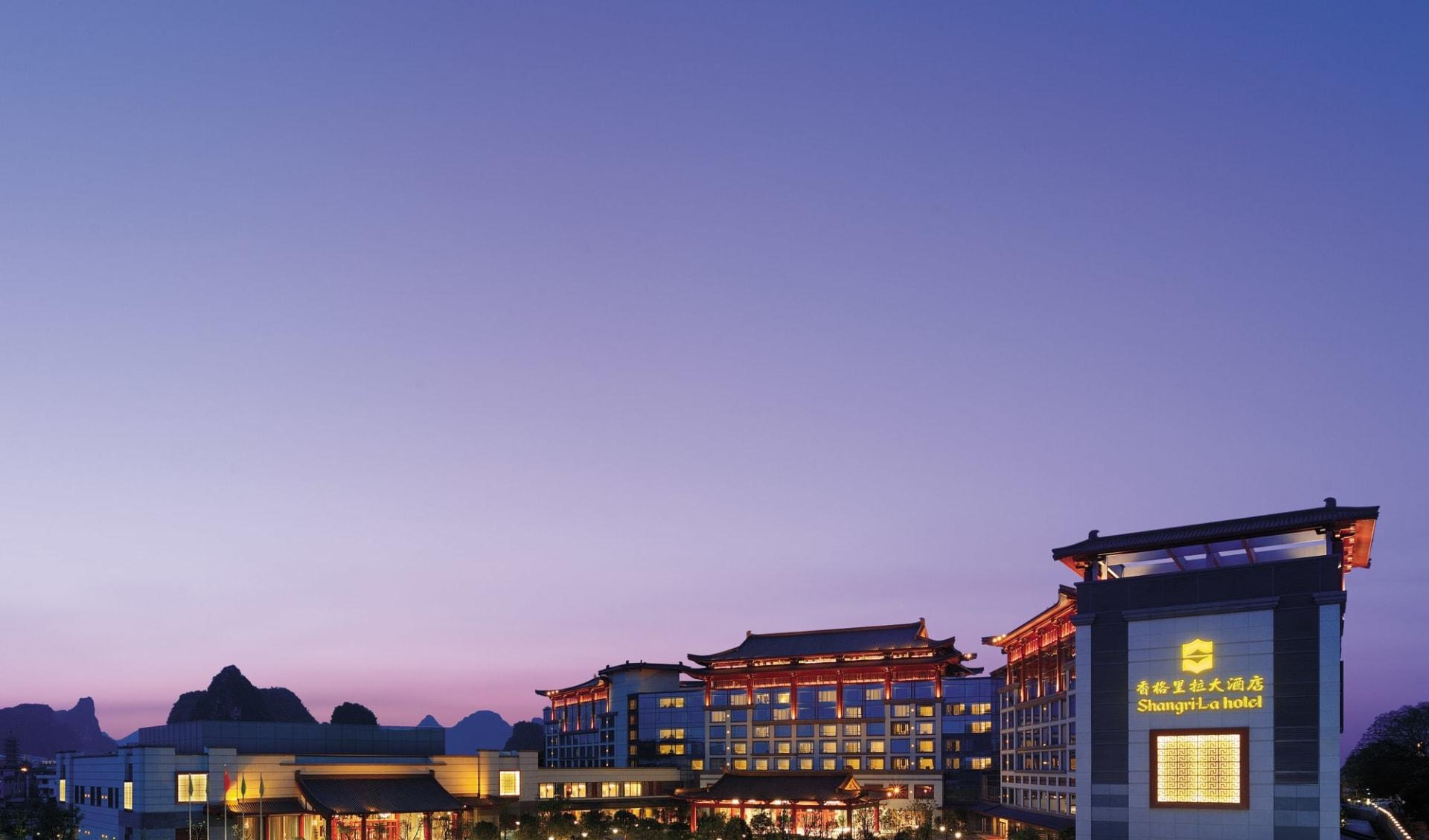 Shangri-La in Guilin: Exterior Nightshot