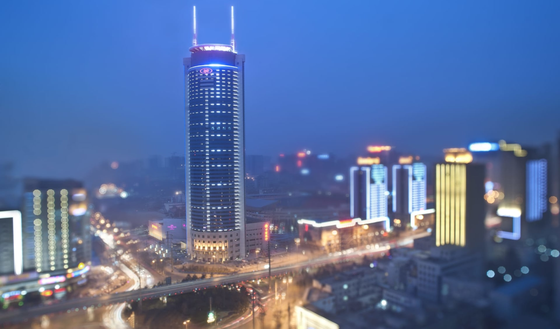 Crowne Plaza in Xian:  Exterior View