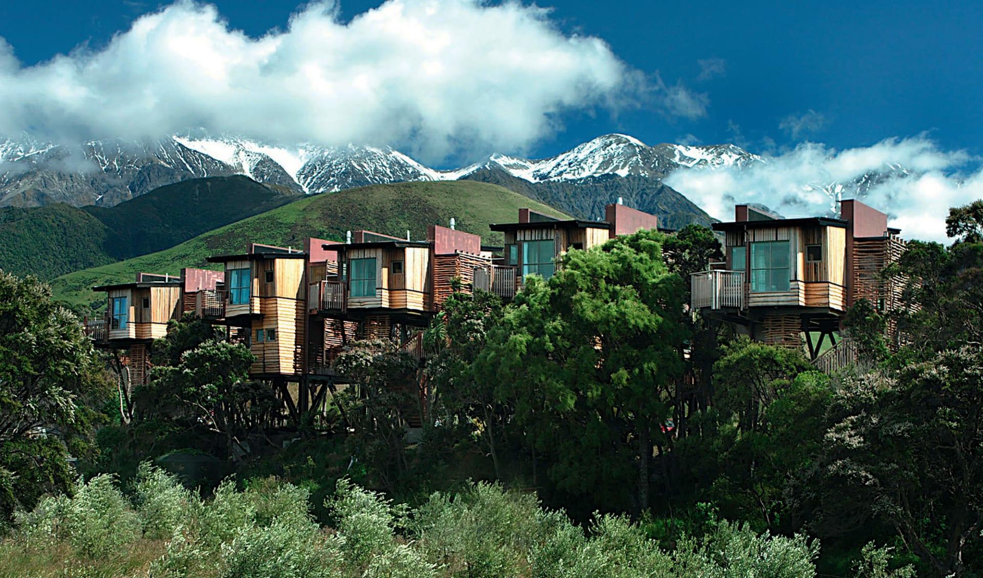 Hapuku Lodge in Kaikoura:  Hapuku Lodge - Blick auf gesamte Anlage