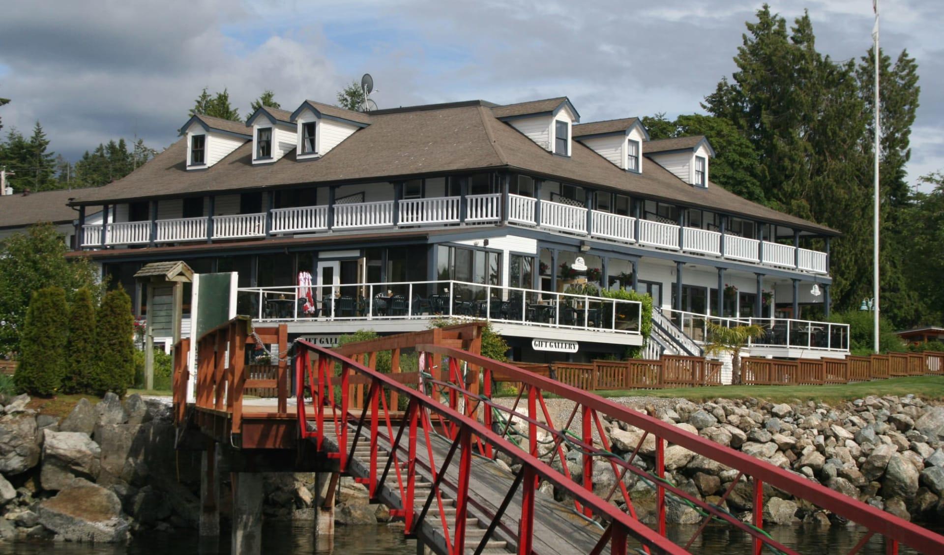 The Lund Resort at Kla ah Men:  Historic Lund Hotel_ViewFromDock2