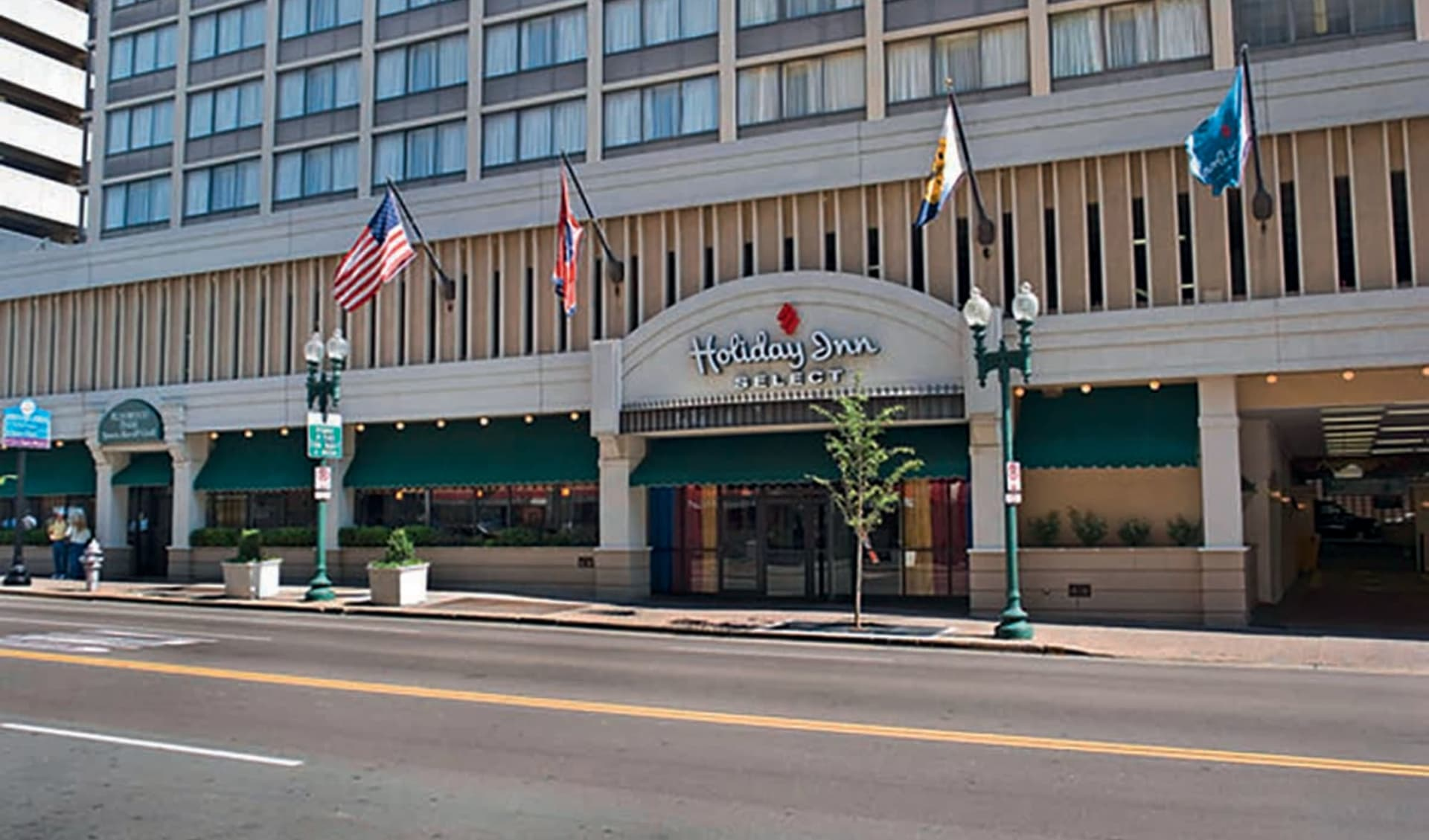Holiday Inn Select Downtown Memphis: exterior holiday inn select hoteleingang strasse