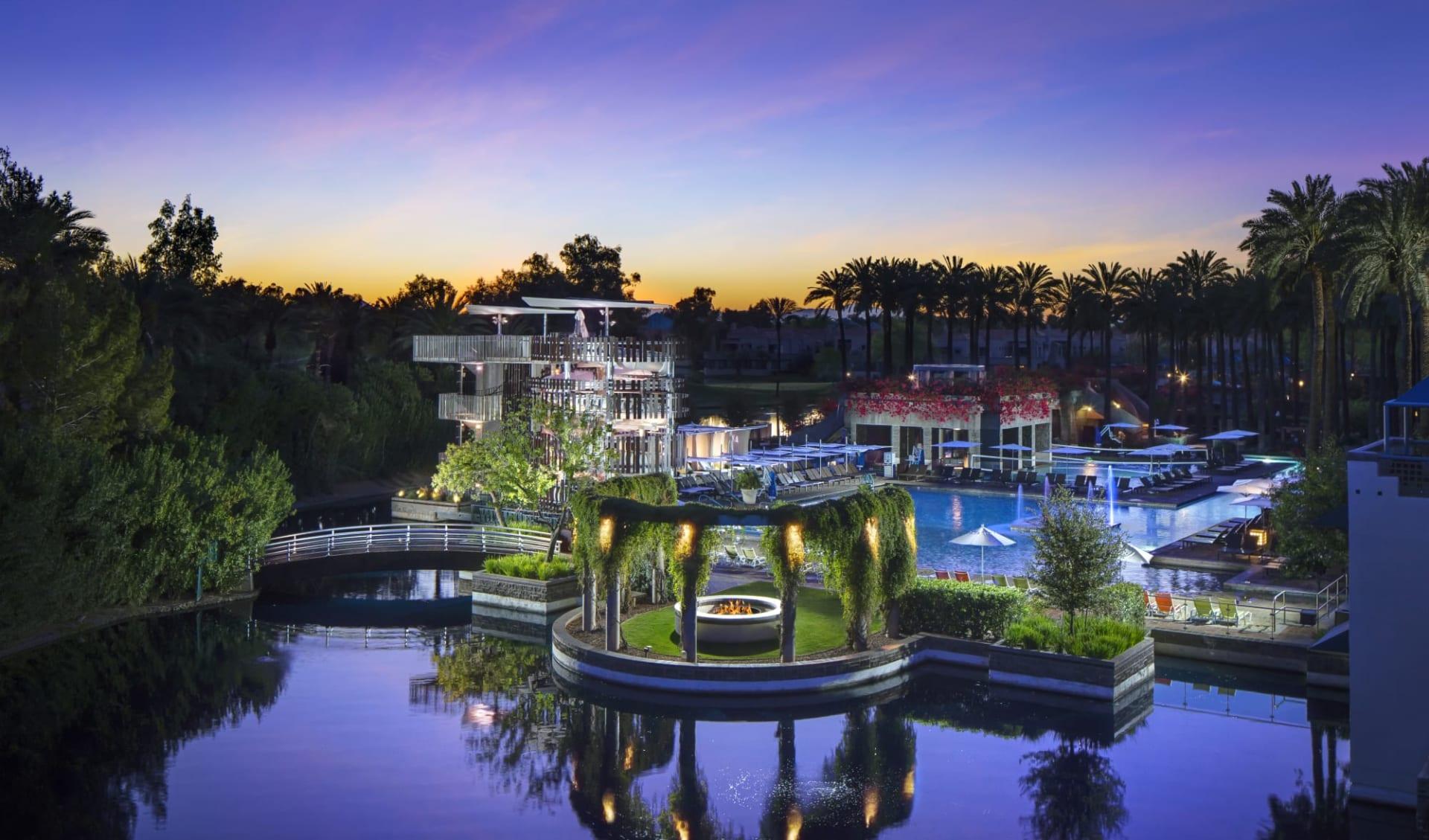 Hyatt Regency Resort Scottsdale:  Hyatt Regency Scottsdale Resort & Spa at Gainey Ranch - Night Beach Colonnade