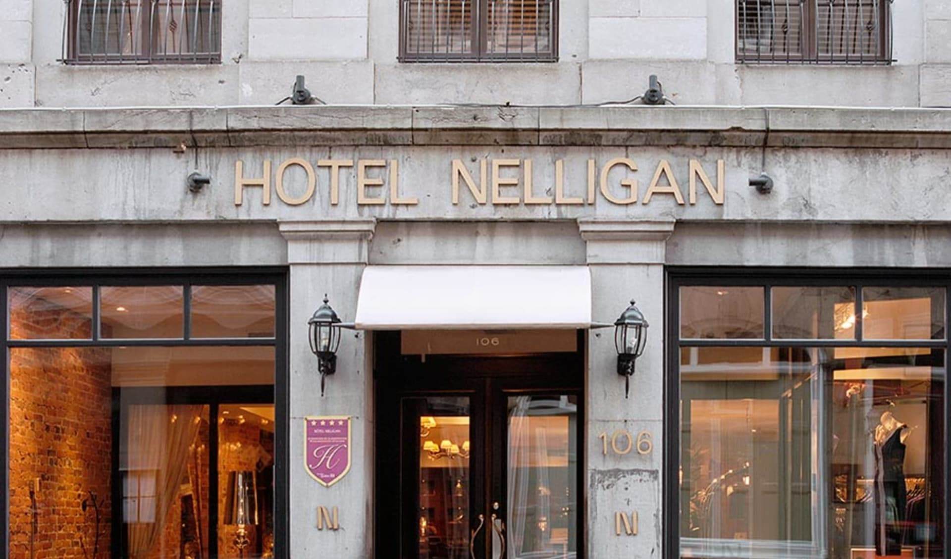 Hotel Nelligan in Montréal:  Le Nelligan_MainEntrance