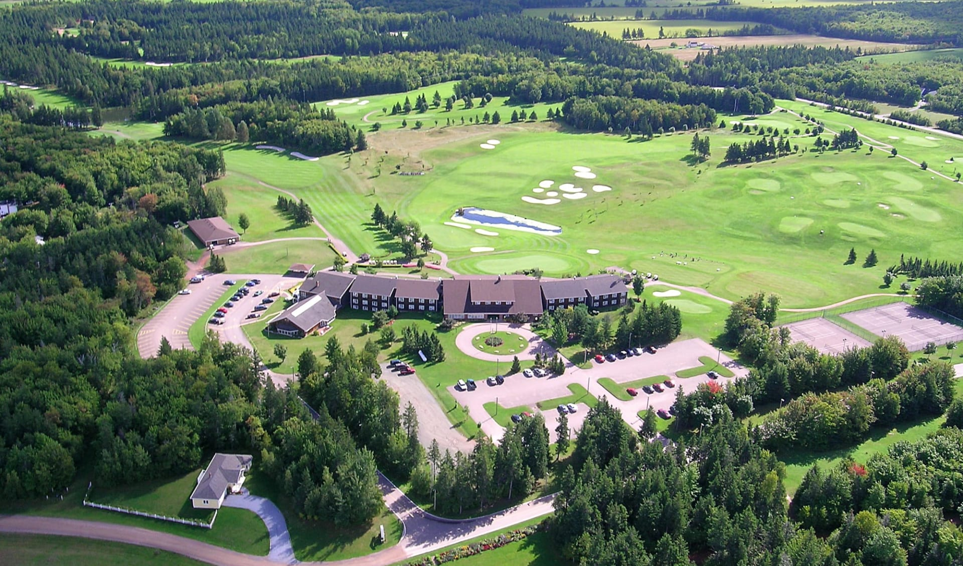Mill River Resort in O'Leary:  Rodd Mill River Resort_AerialView
