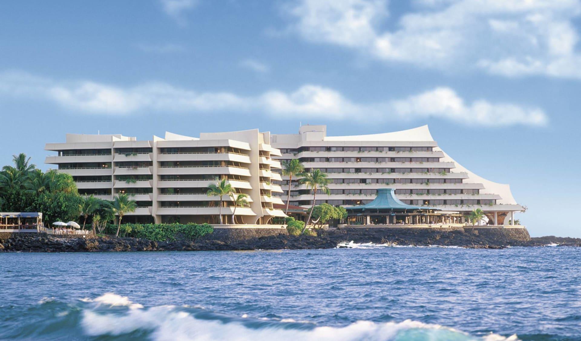 Royal Kona Resort in Kailua-Kona: exterior royal kona resort meer hotelgebäude