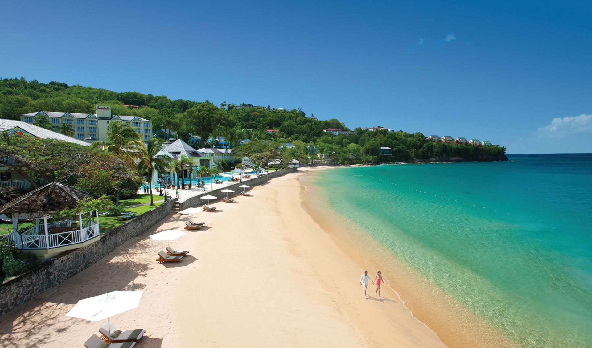 Sandals Regency La Toc Golf Resort & Spa in Castries: Exterior Sandals La Toc St. Lucia - Beach c Sandals