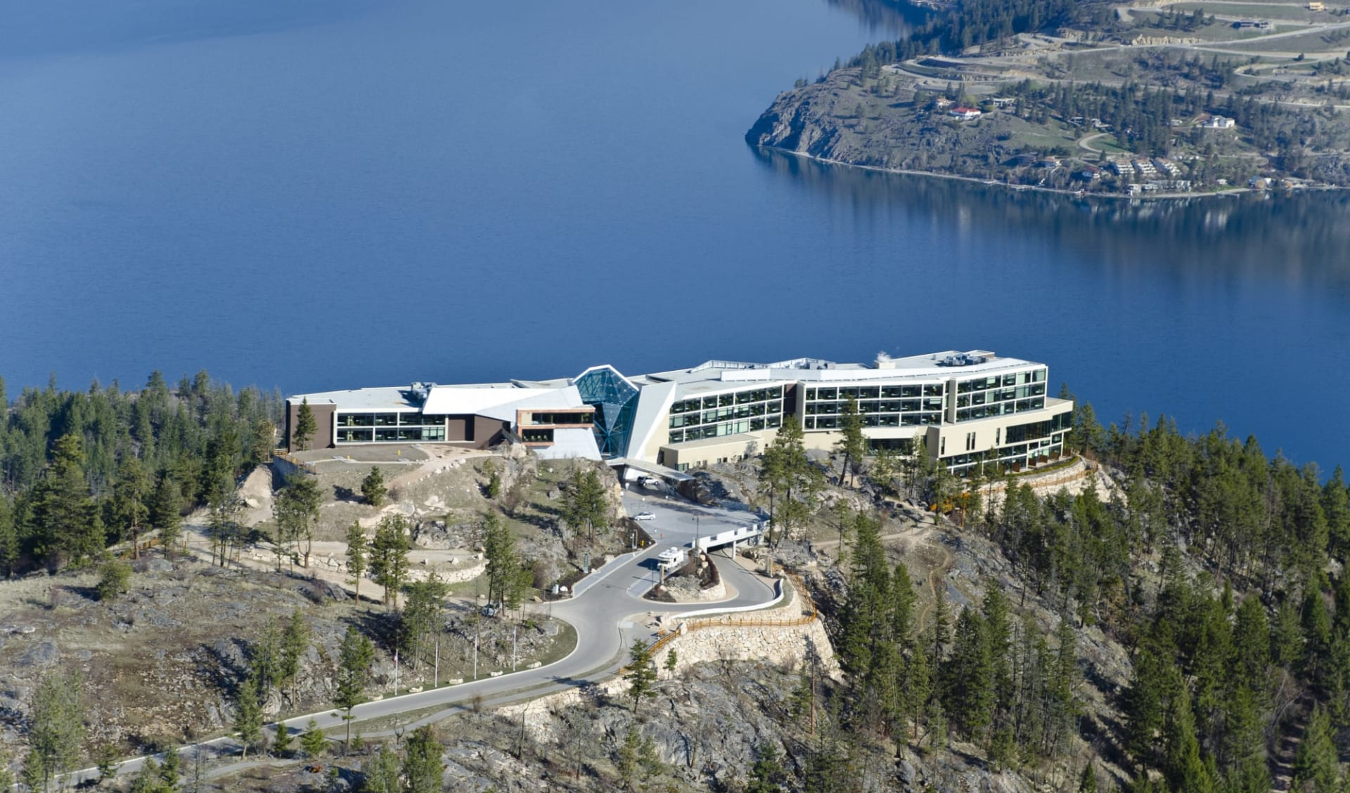 Sparkling Hill Wellness- & Spa Resort in Vernon:  Sparkling Hill Wellness & Spa Resort_AerialLakeView