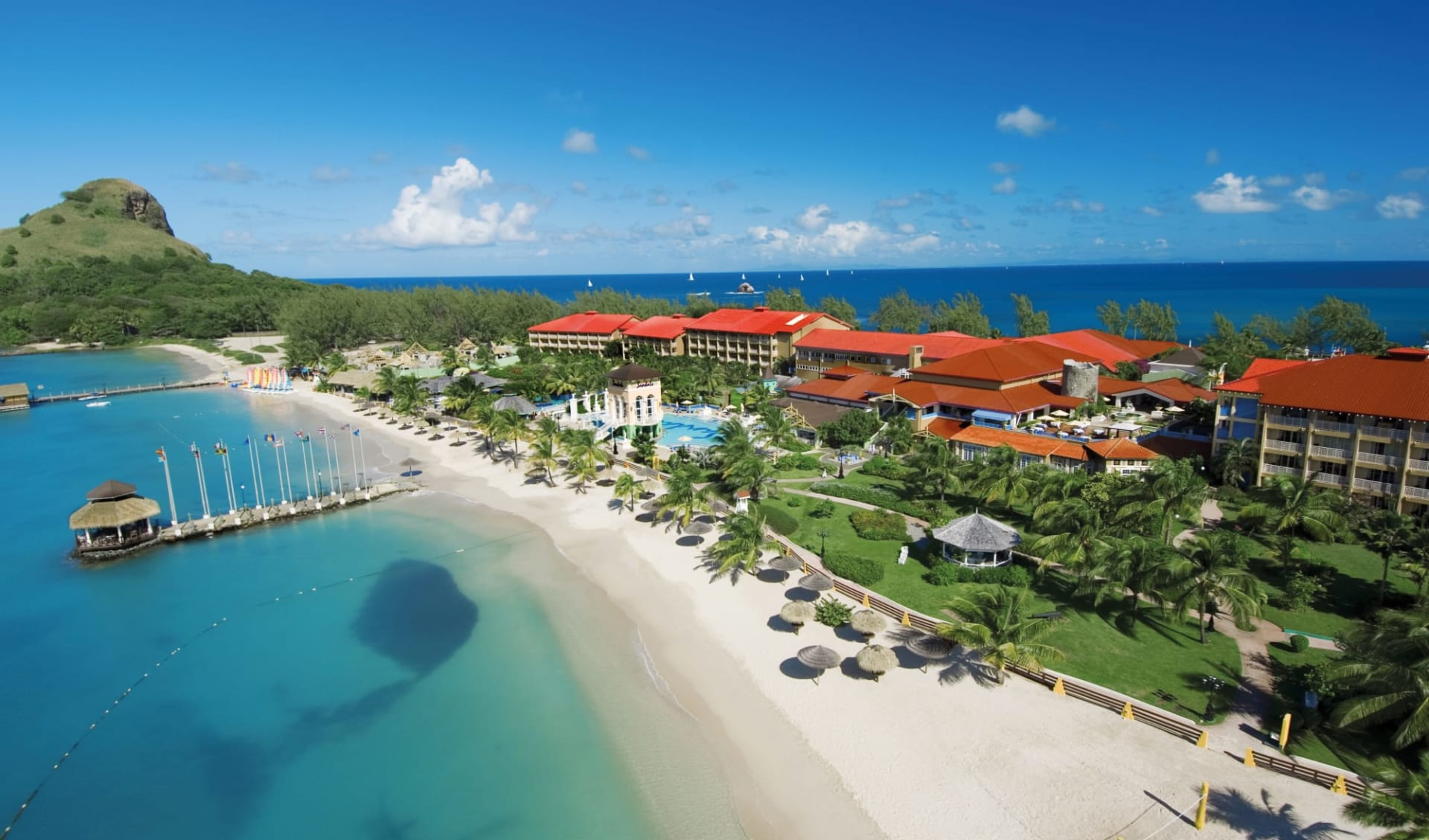 Sandals Grande St. Lucian Spa & Beach Resort in Gros Islet:  St. Lucia_Sandals Grande_Beach
