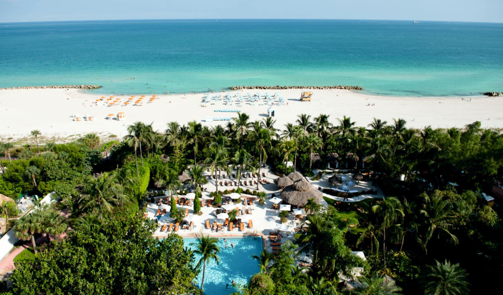 The Palms in Miami Beach:  The Palms - Gartenanlage, Palmen, Strand