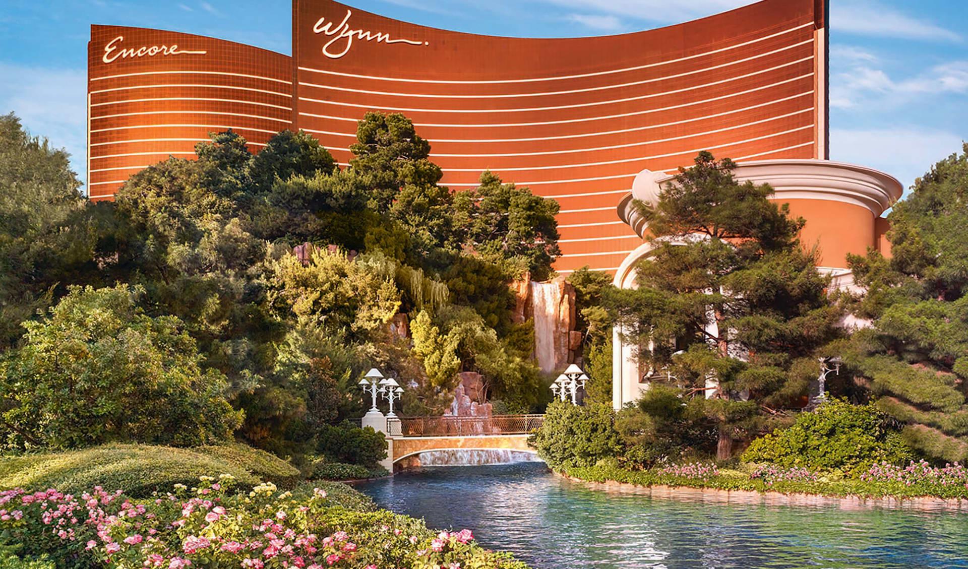 Wynn Las Vegas: exterior wynn las vegas hotelgebäude pflanzen