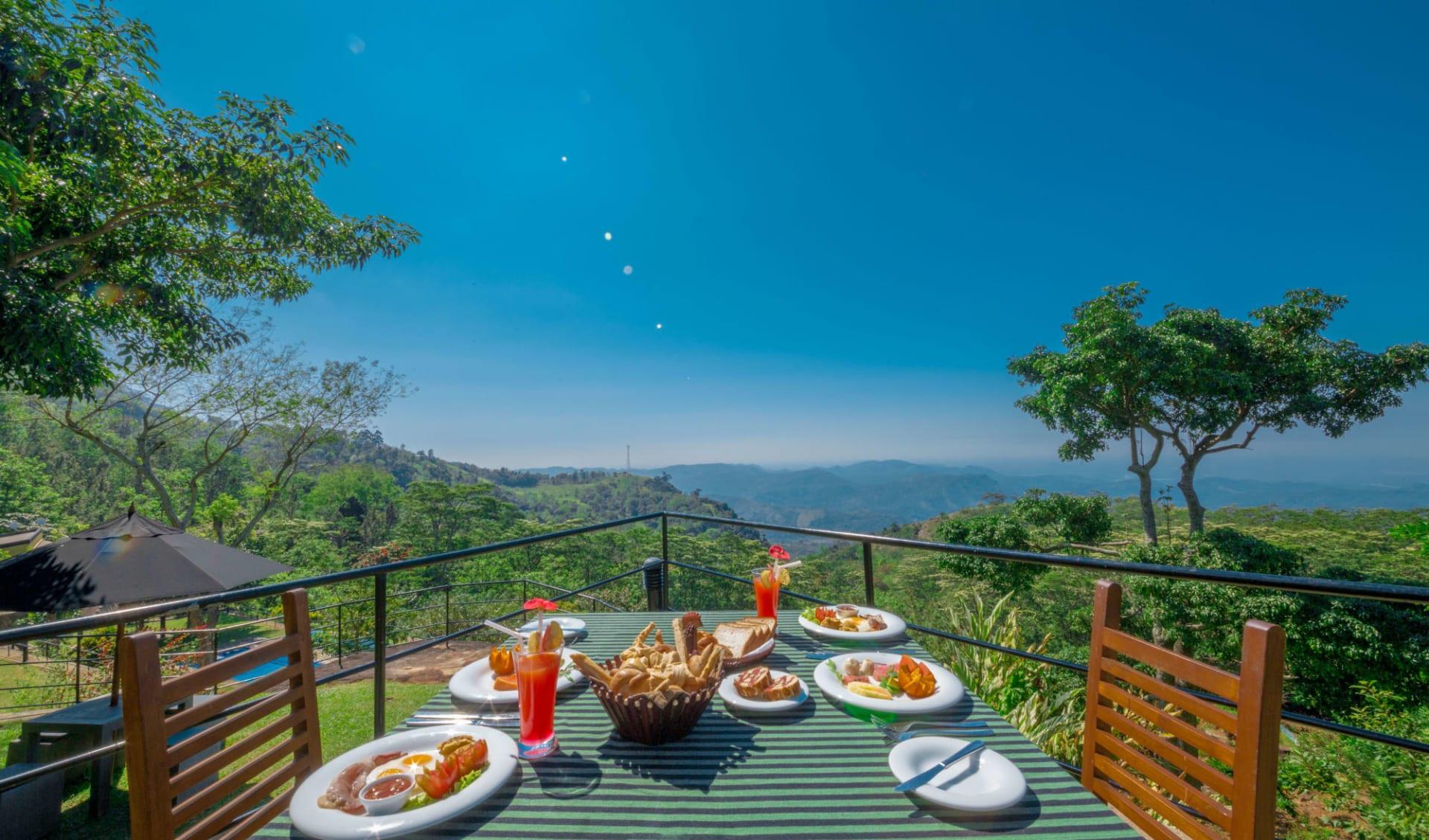 Melheim Resort in Ella, Haputale, Koslanda: Breakfast with a View