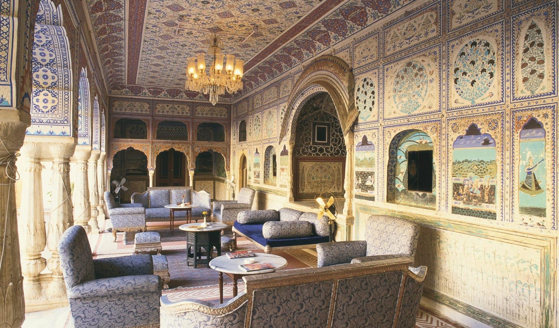 Samode Palace in Jaipur: Lounge