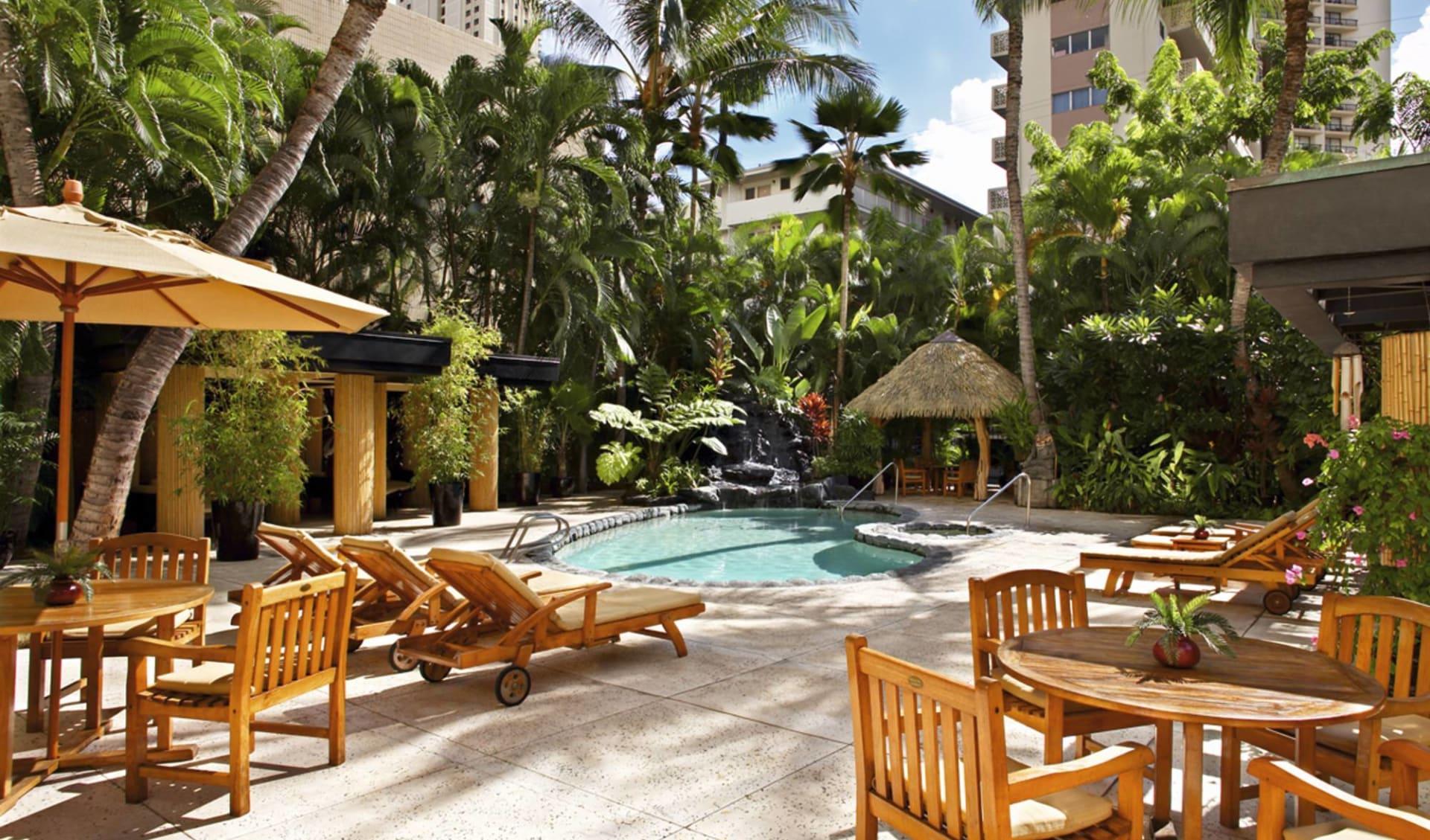 Aqua Bamboo Hotel in Honolulu - Oahu:  Aqua Bamboo Hotel - Poolanlage