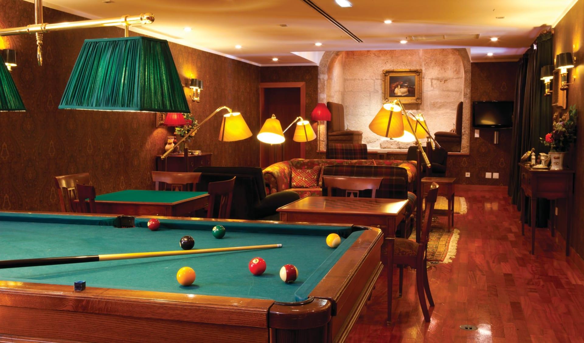Casa da Calçada Relais & Chateau in Amarante:  Casa da Calçade Relais & Chateaux - Billiardroom
