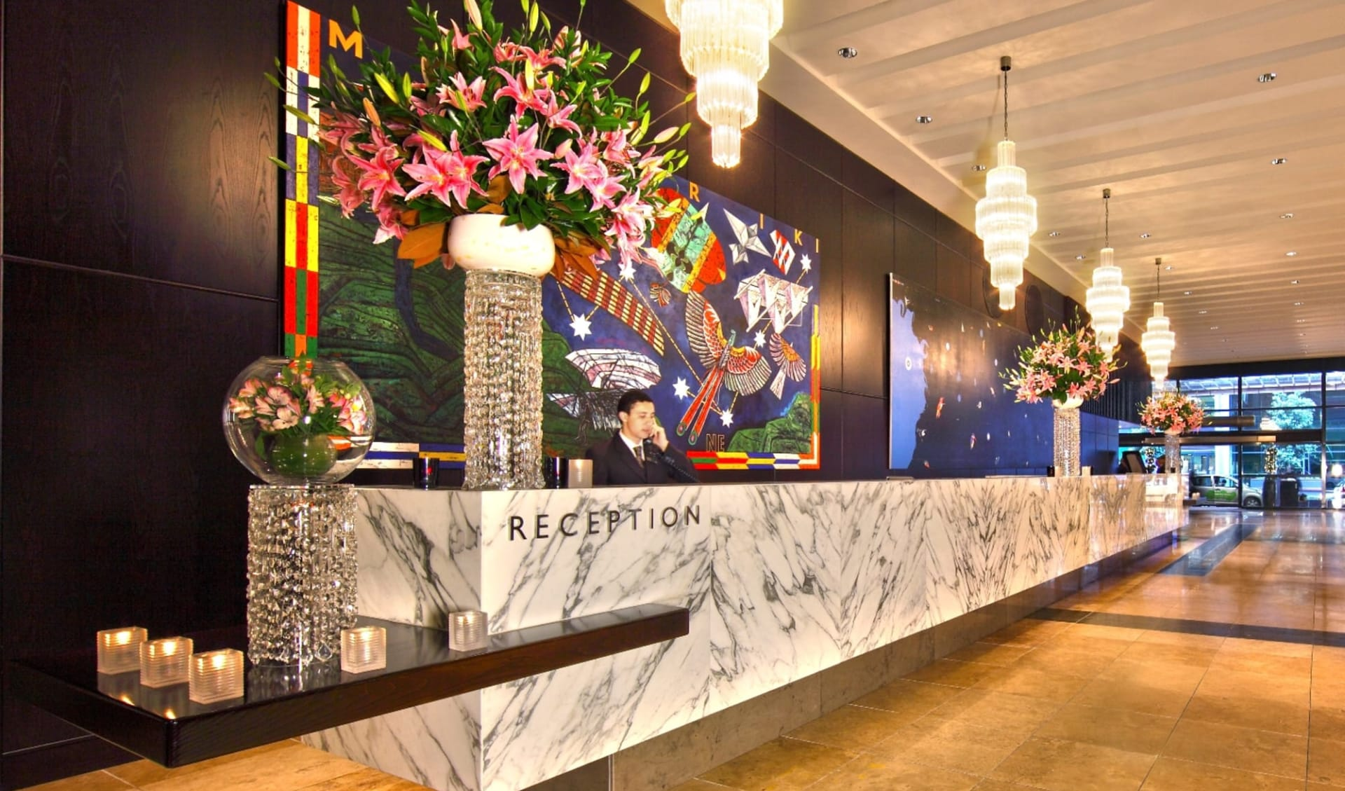 Skycity Grand Hotel in Auckland:  Grand Hotel reception