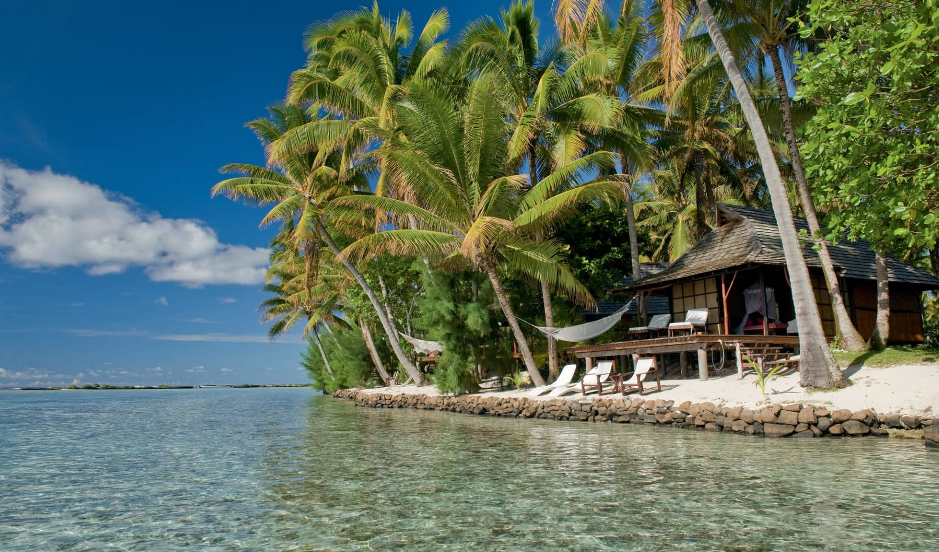 Vahine Island Resort in Taha'a:  Hotel Vahine Island - Blick auf Beach Bungalow