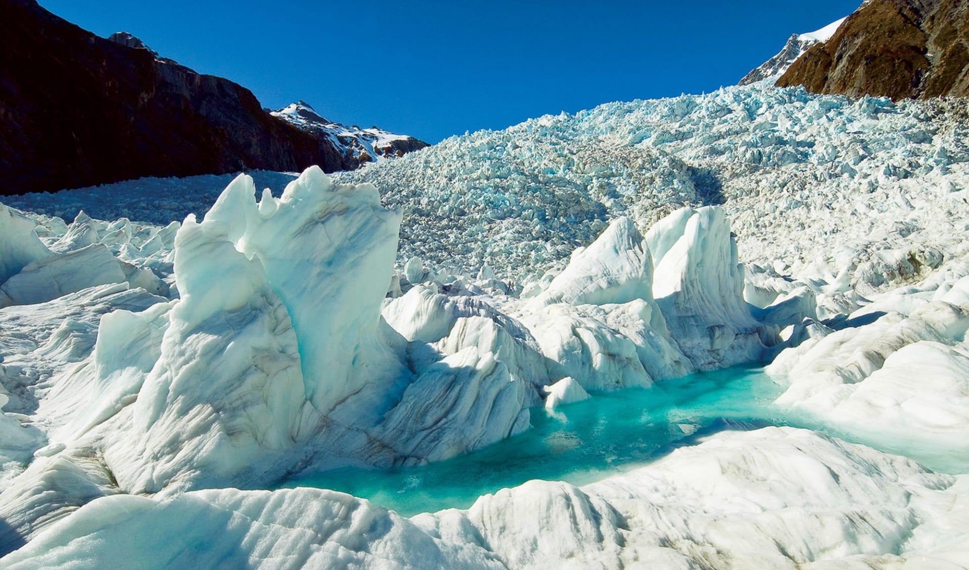 Neuseeland entdecken (Christchurch - Queenstown) (AAT Kings): Franz Josef - Gletscher - Eisgebilde