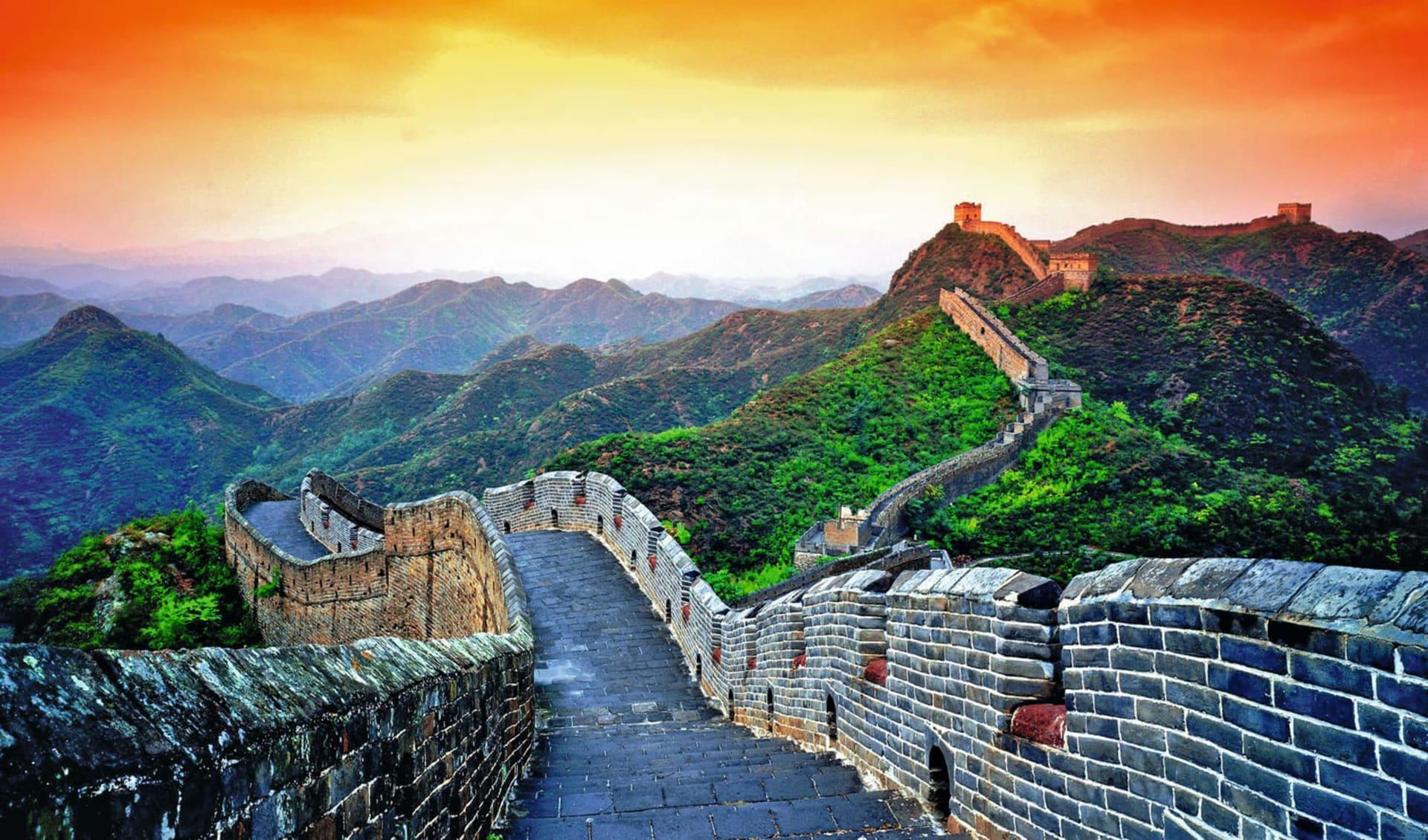 Glanzlichter Chinas mit dem Zug ab Peking: Great Wall